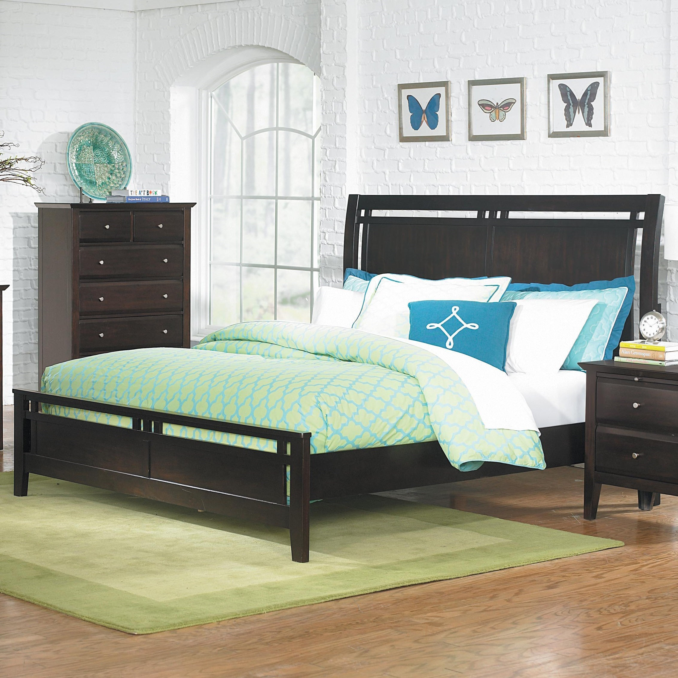 Bed Low Profile Homelegance Verano Casual Queen Low Profile Bed Value
