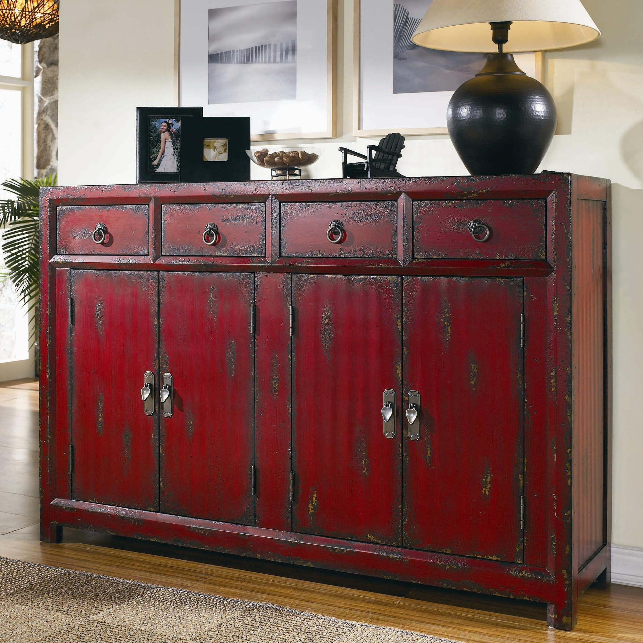 Asia Sideboard Hooker Furniture Chests And Consoles Red Asian Cabinet