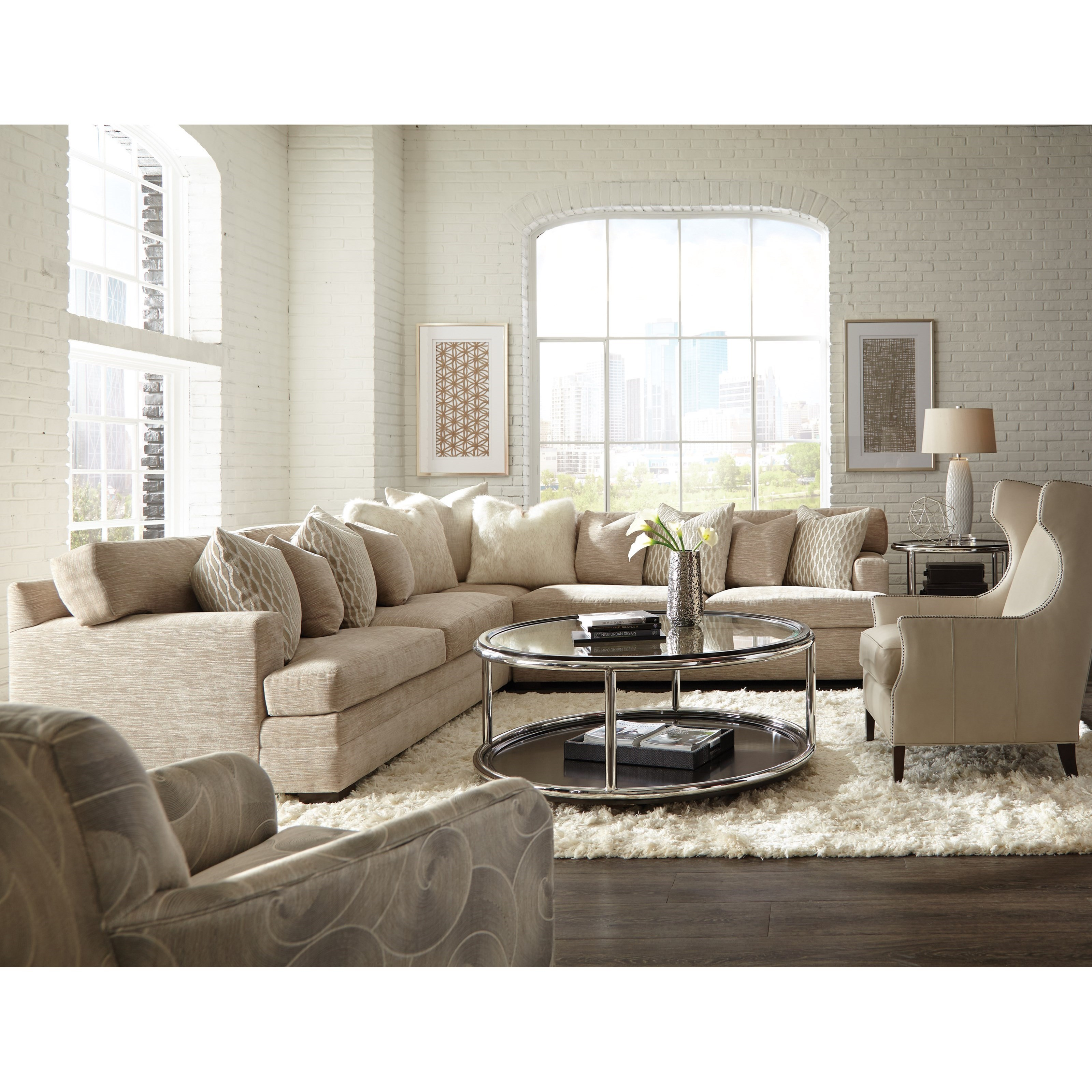 Hunington House Huntington House 7100 Contemporary L Shape Sectional With