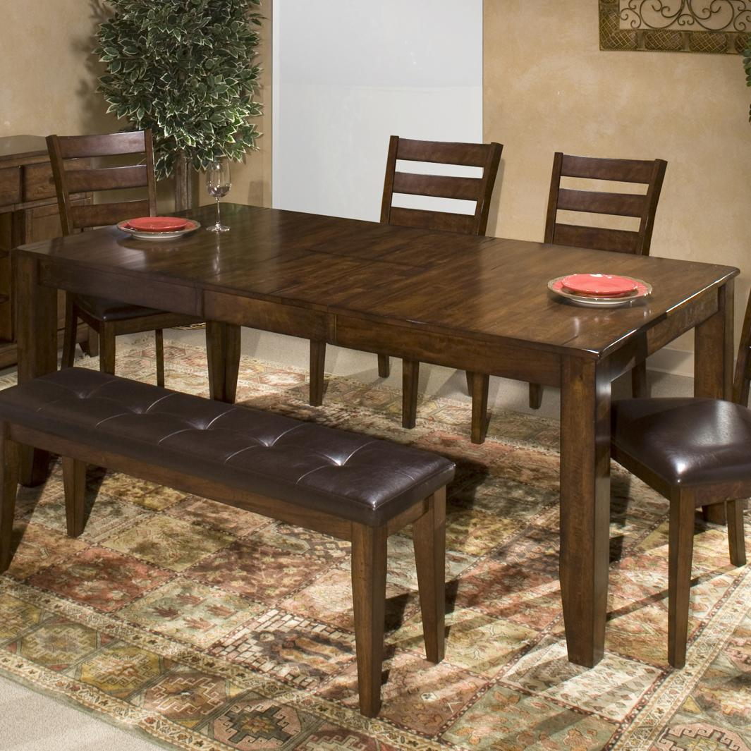 Building A Dining Room Table With Leaves Belfort Select Cabin Creek Solid Mango Wood Dining Table