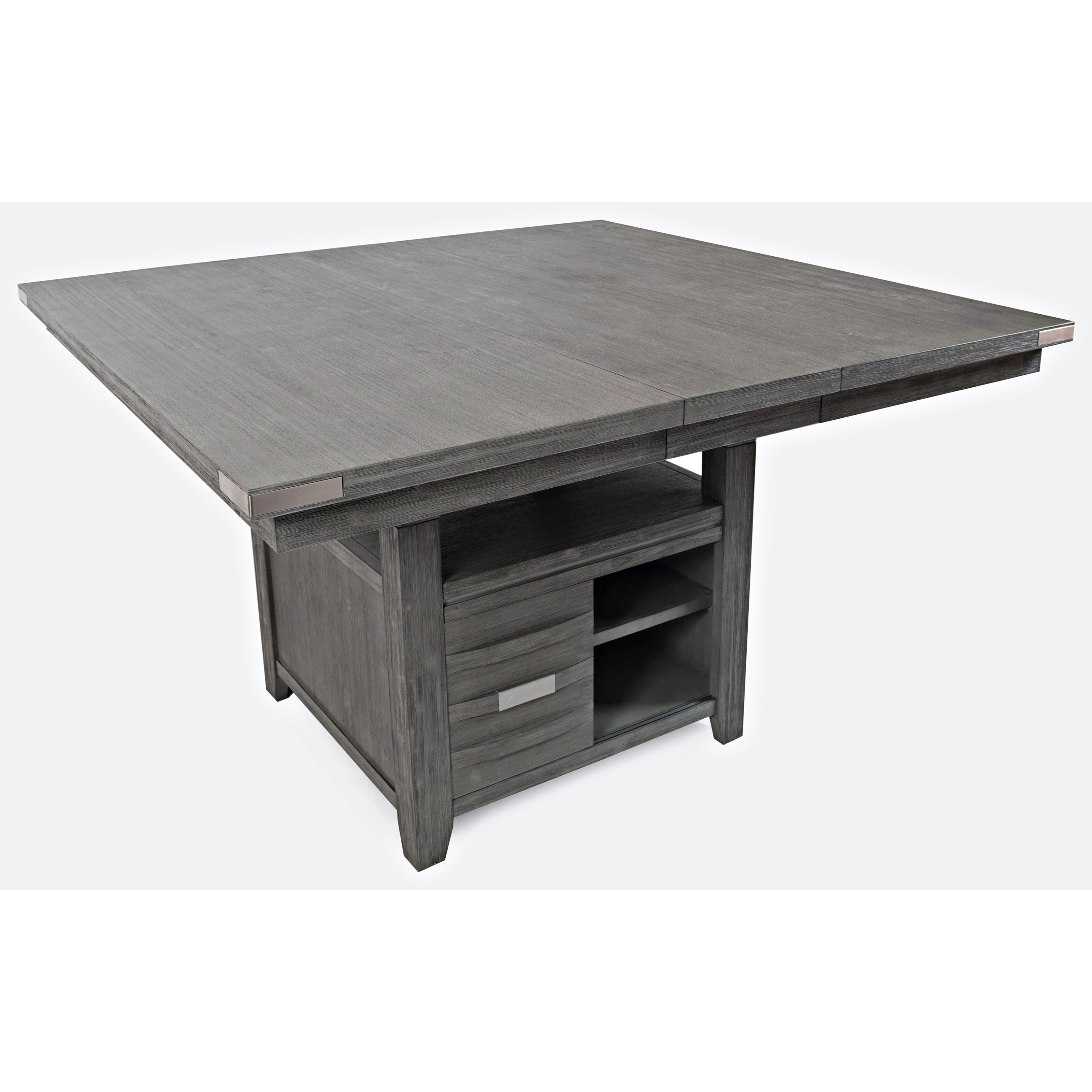 Square Dining Table With Storage Vfm Signature Altamonte Square Dining W Storage Base