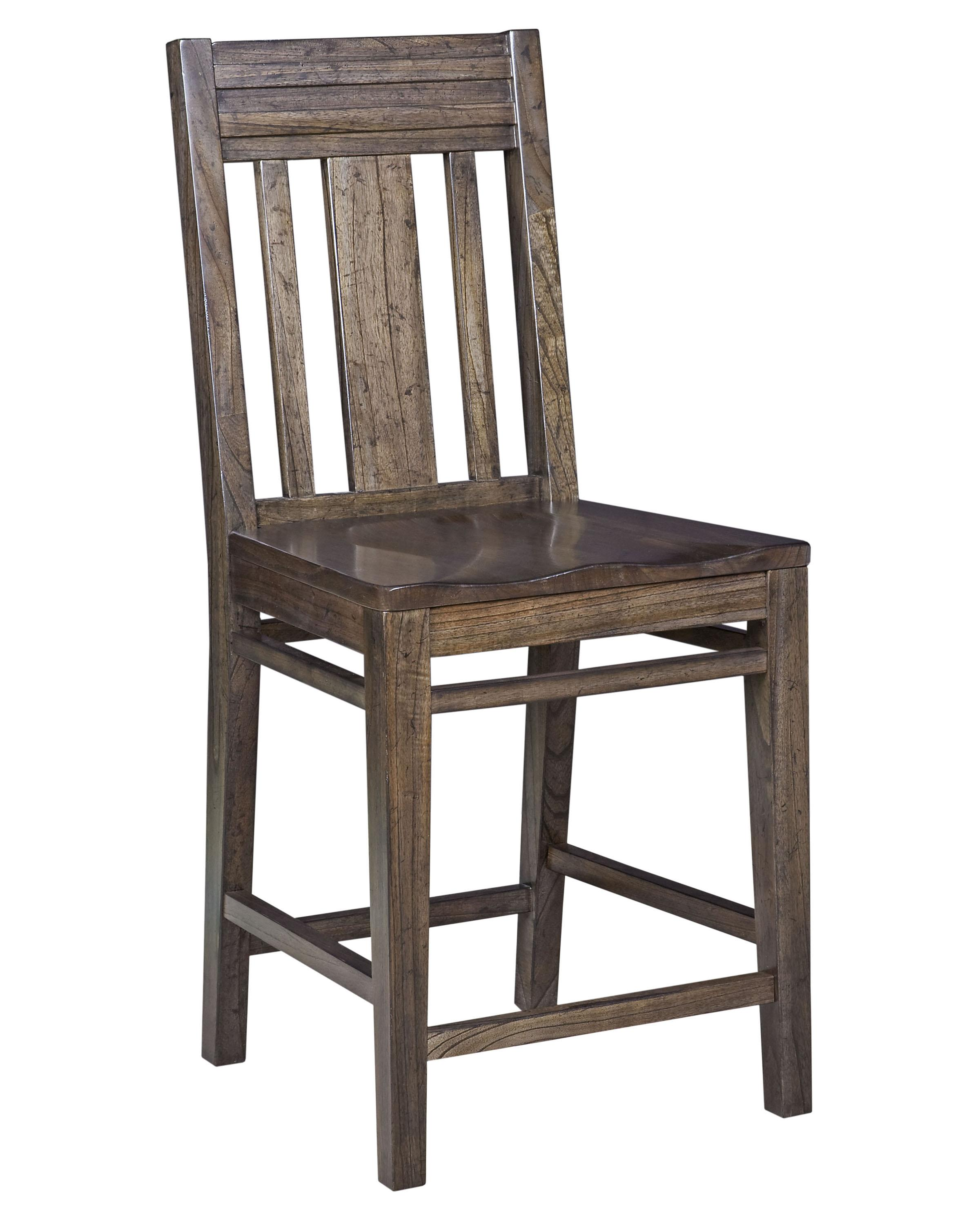 Modern Wood Counter Stool Kincaid Furniture Montreat 84 067v Contemporary Solid Wood