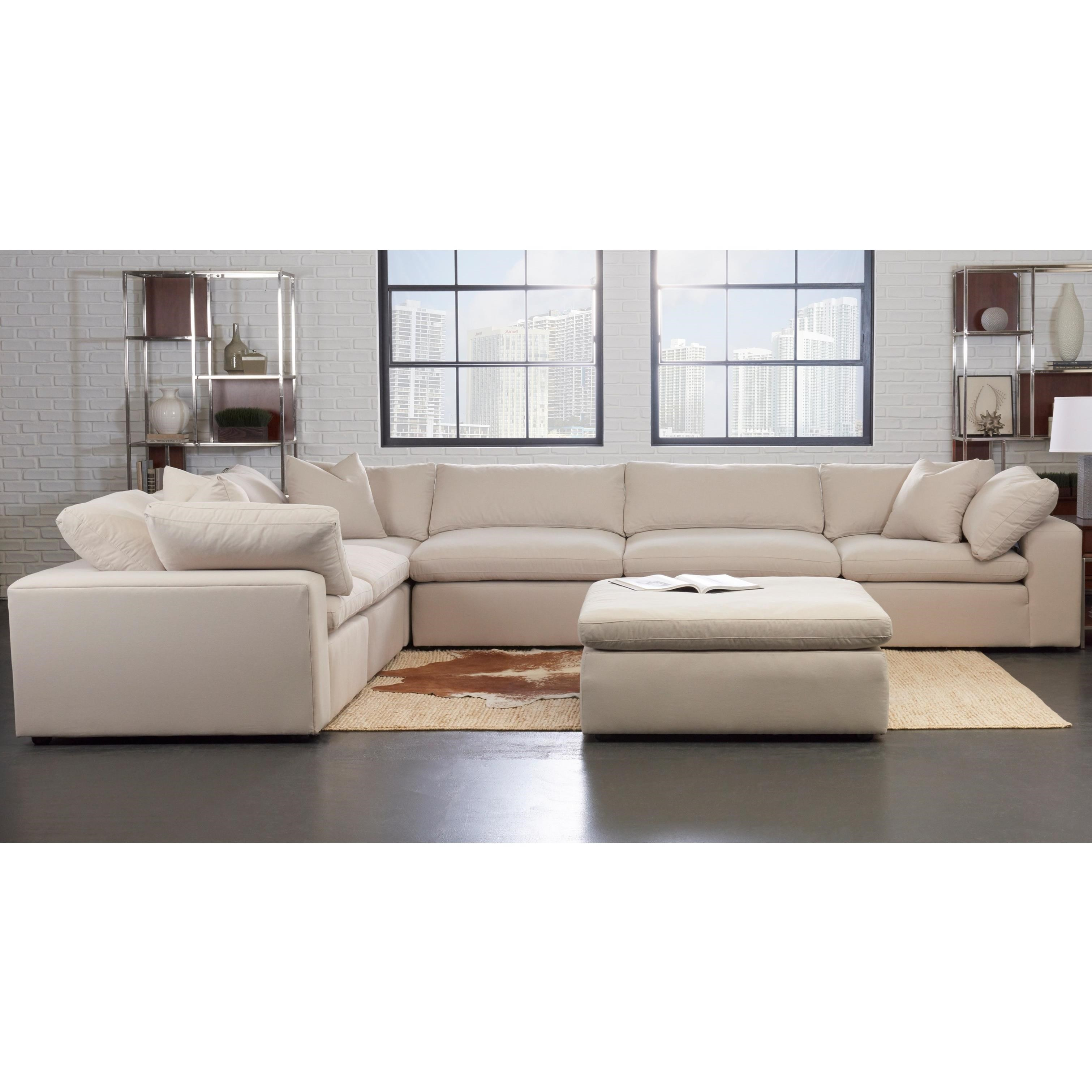 Modular Sofa Klaussner Monterey Contemporary 6 Pc Modular Sectional