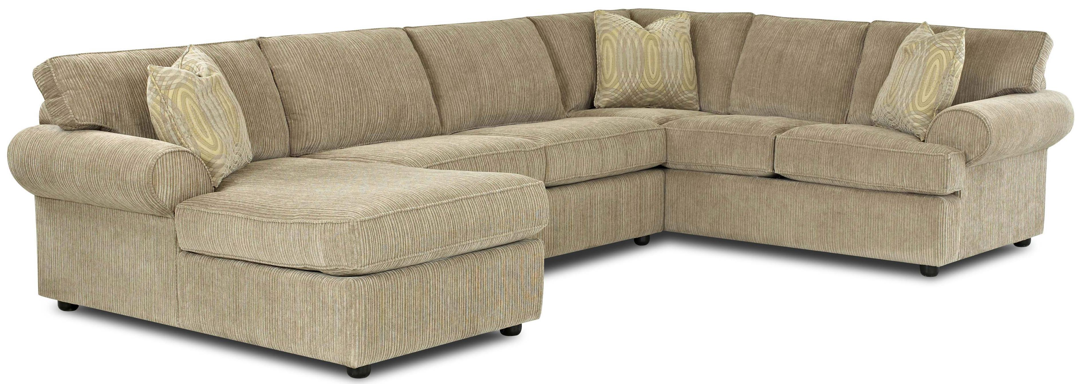 Complete Sleeper Pillow Julington Transitional Sectional Sofa With Rolled Arms And