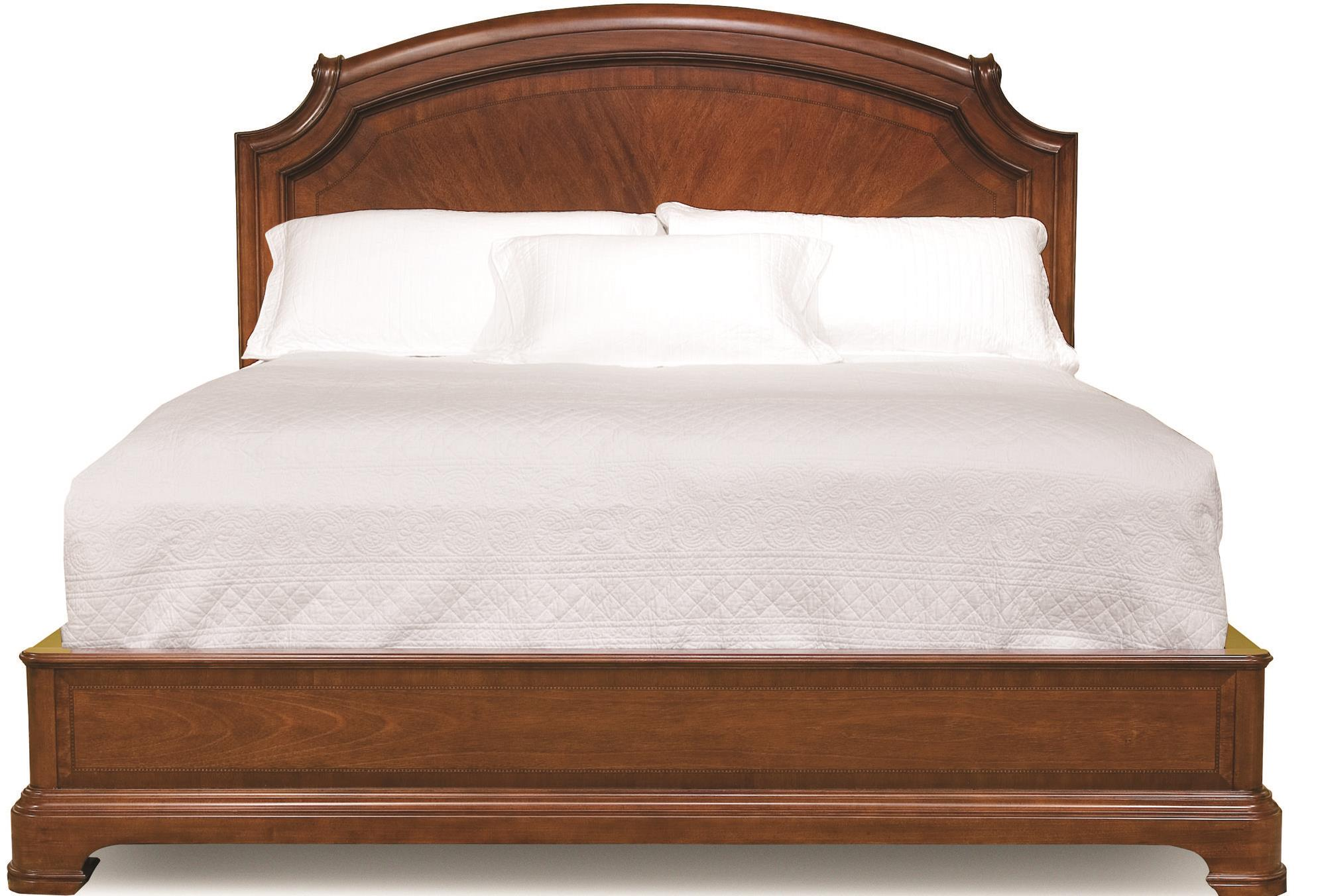 Evolution Queen Size Scroll Top Platform Bed By Legacy