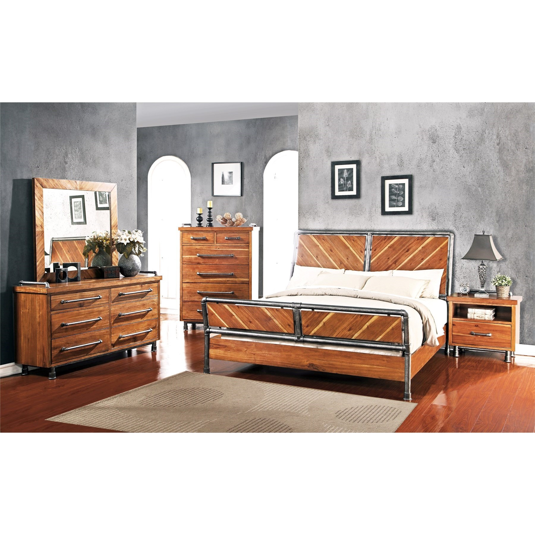Steampunk Furniture For Sale Legends Furniture Steampunk Collection Queen Bedroom Group