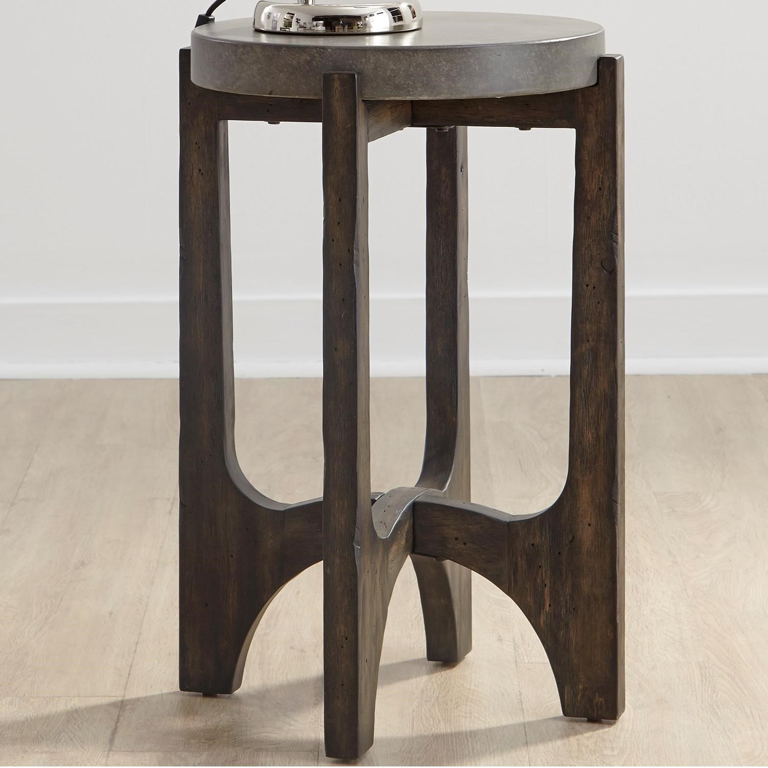 Modern Chairside Table Liberty Furniture Cascade Contemporary Chairside Table