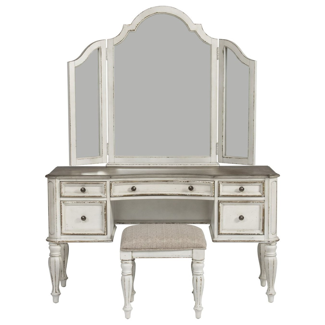 Bedroom Set With Vanity Liberty Furniture Magnolia Manor Bedroom Vanity Set