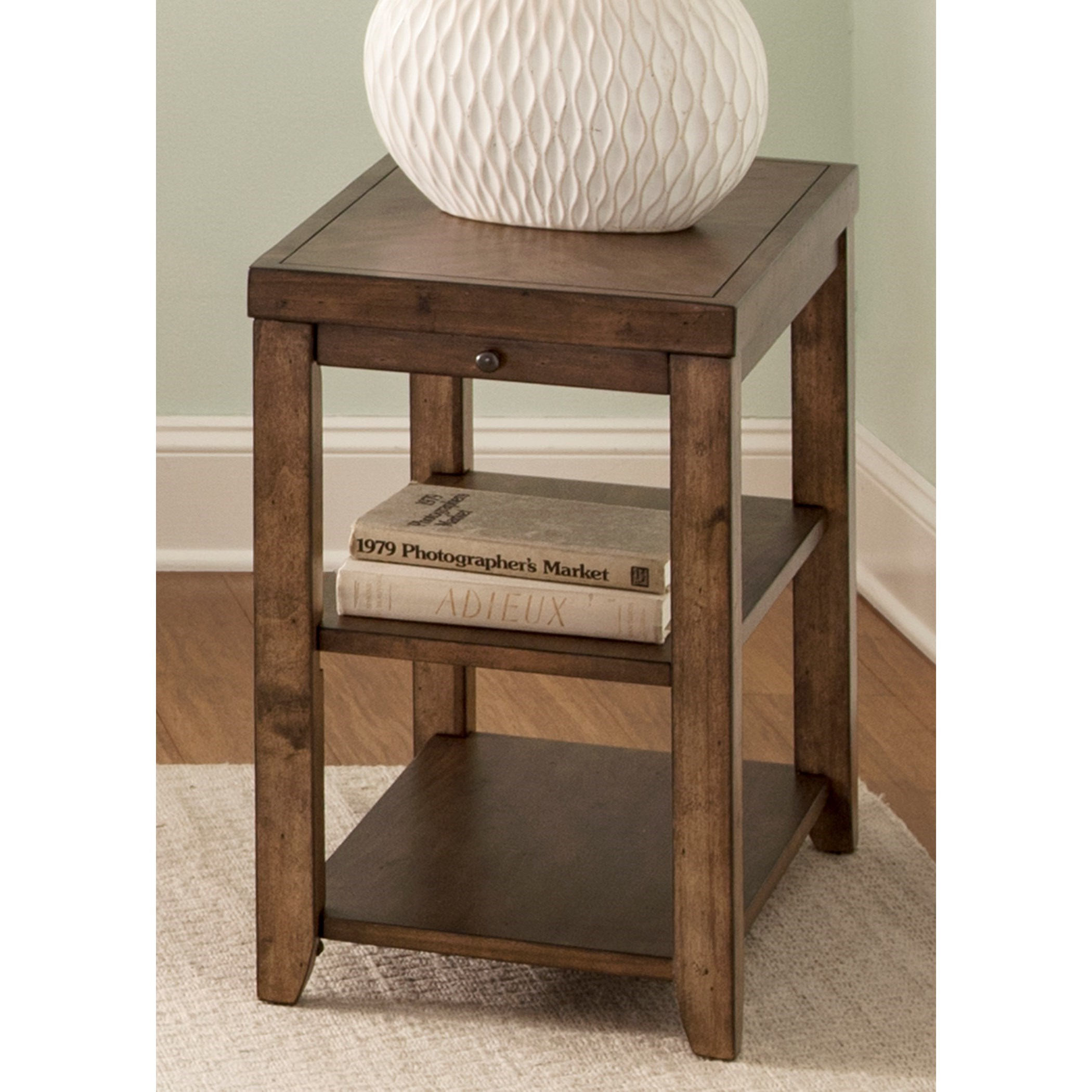 Modern Chairside Table Liberty Furniture Mitchell Occasional Contemporary