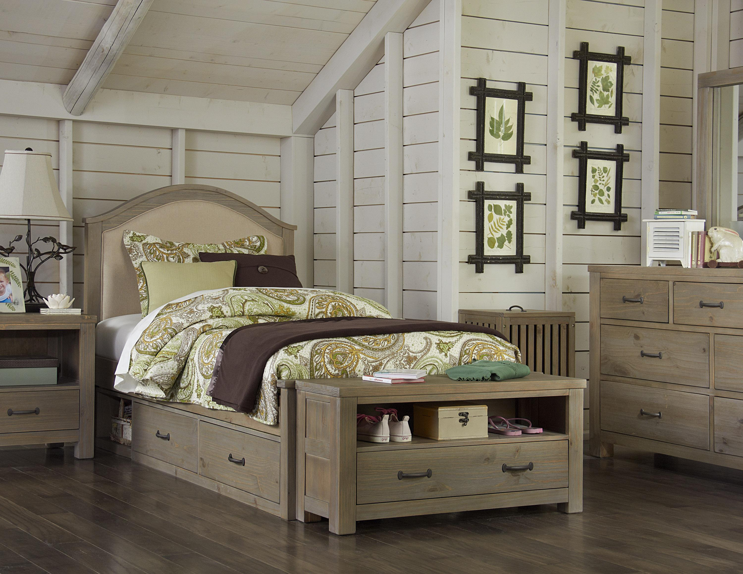 Cream Colored Bunk Beds Ne Kids Highlands Twin Bailey Bed With Cream Upholstered