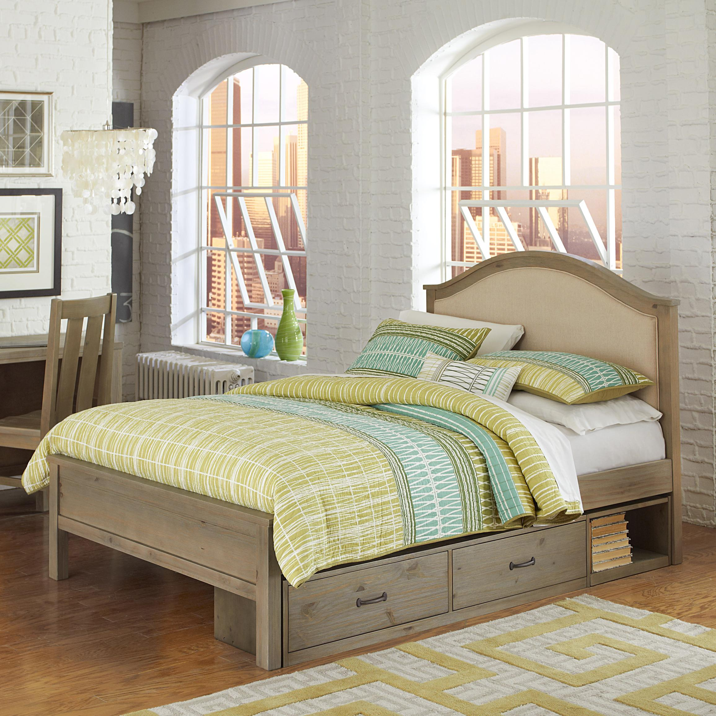 Cream Colored Bunk Beds Ne Kids Highlands Full Bailey Bed With Cream Upholstered