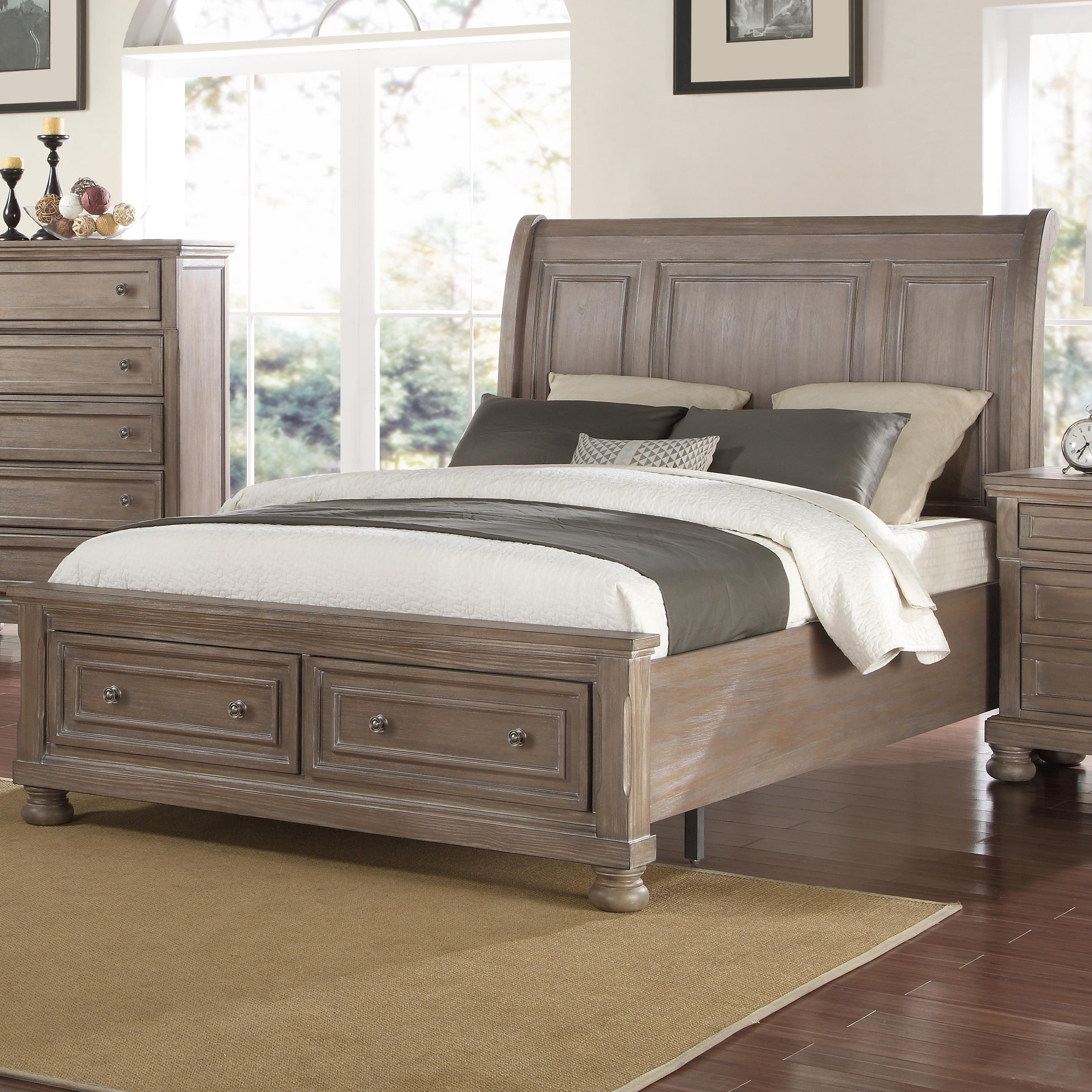 Bed Low Profile New Classic Allegra Queen Low Profile Bed With Footboard
