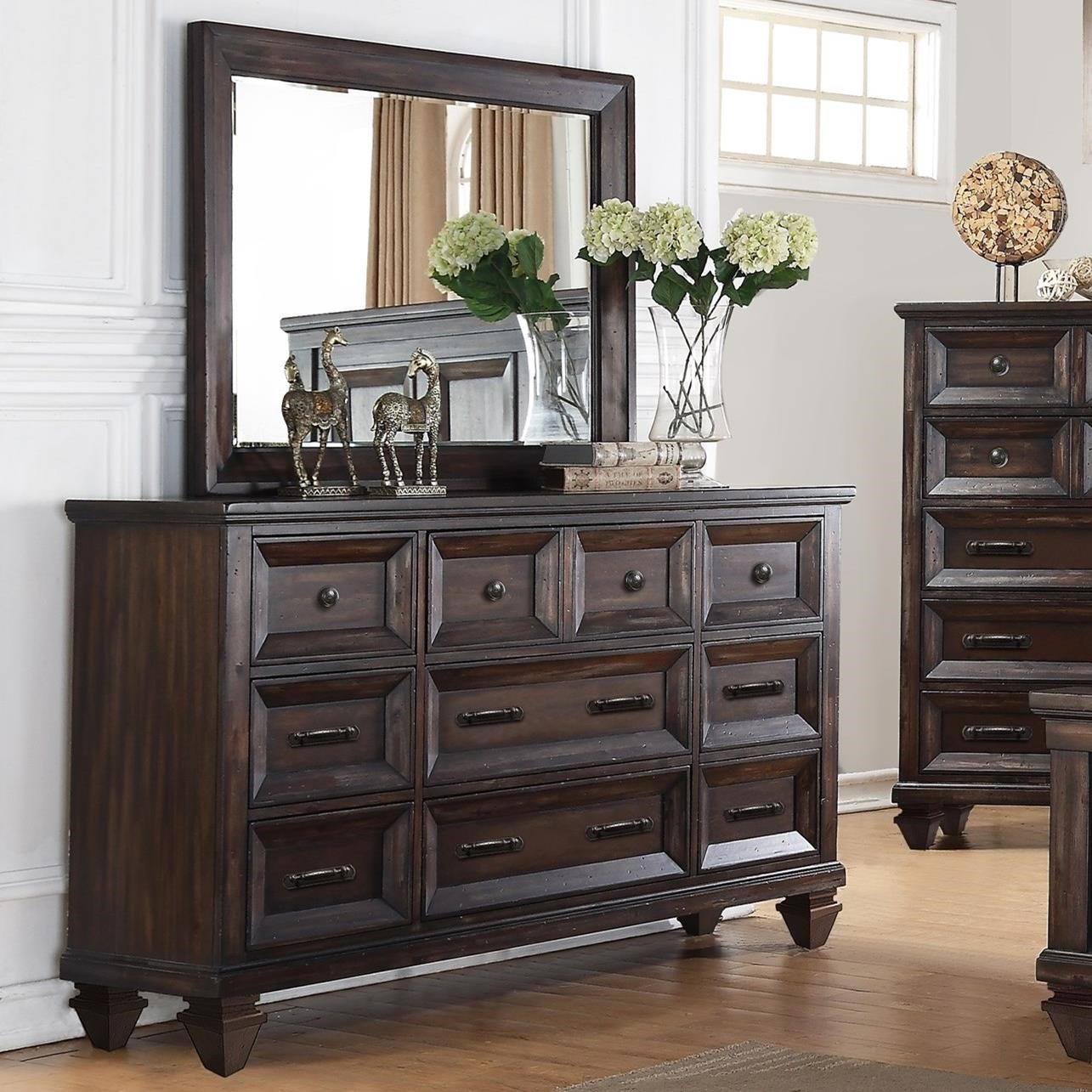 Factory Sofas Sevilla New Classic Sevilla Nine Drawer Dresser And Mirror Set