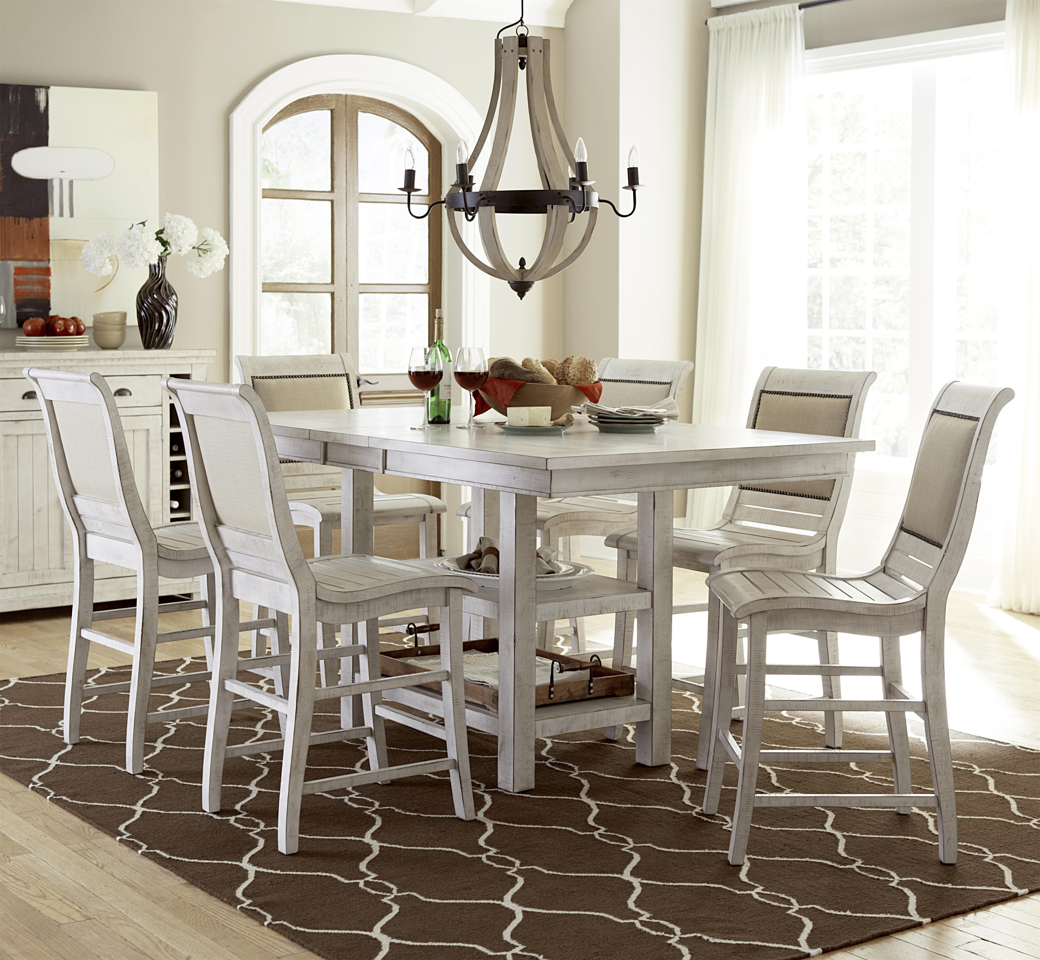 Countertop Table Sets Progressive Furniture Willow Dining 7 Piece Rectangular