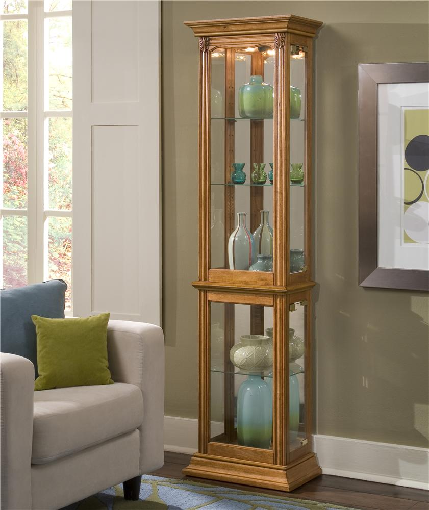 Pulaski Furniture Curios Estate Oak Curio Cabinet Olinde