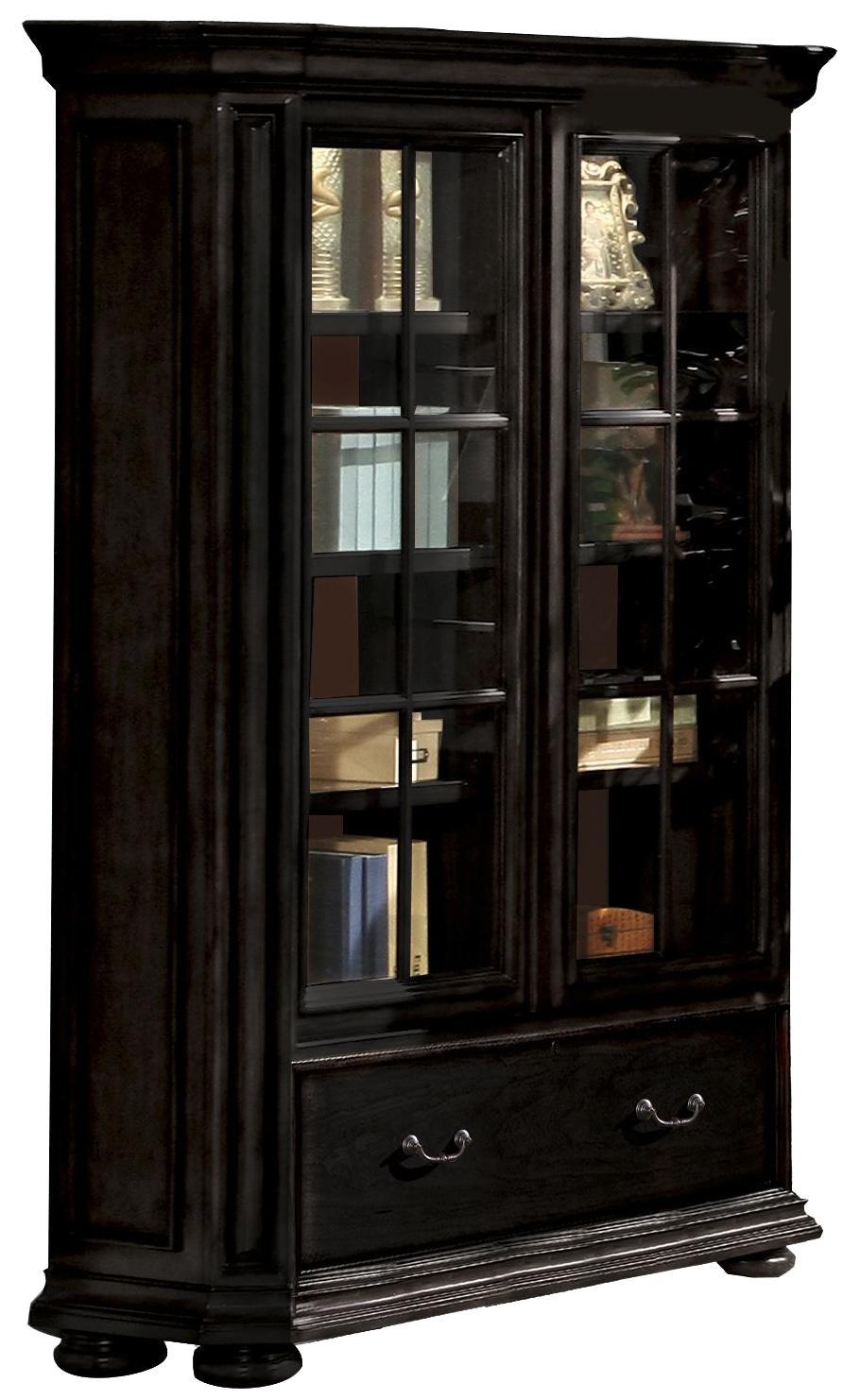 Riverside Furniture Allegro Rs 44734 Sliding Door Bookcase