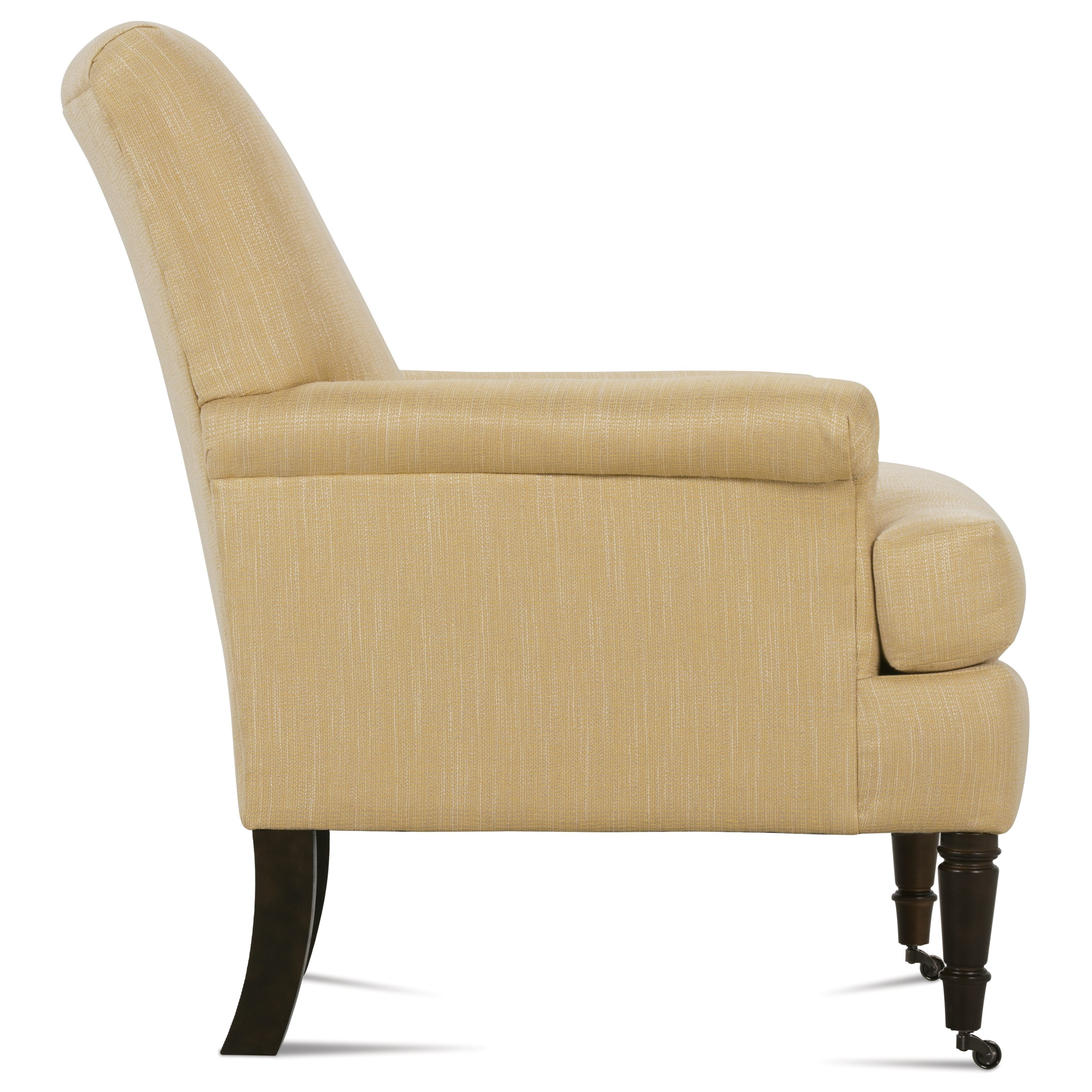 Rowe Hannah Traditional Accent Chair With Rolled Arms And