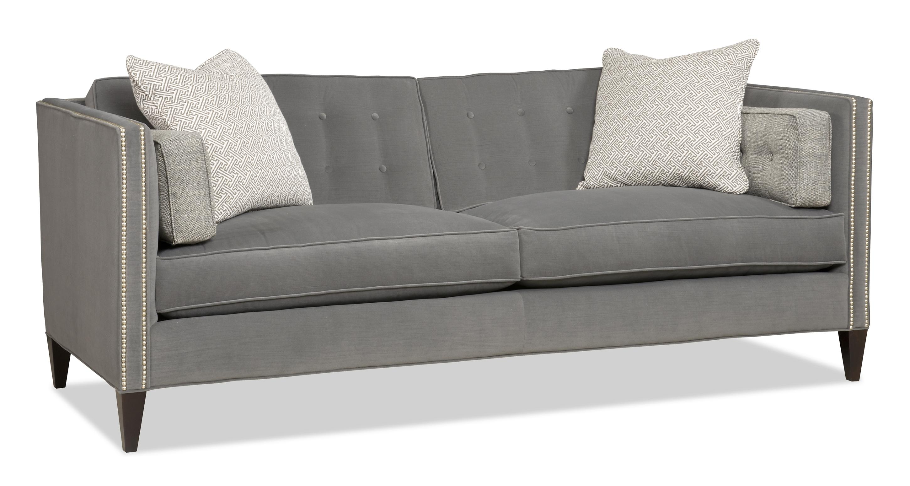 Eaton Furniture Sam Moore Eaton Contemporary Two Over Two Sofa With