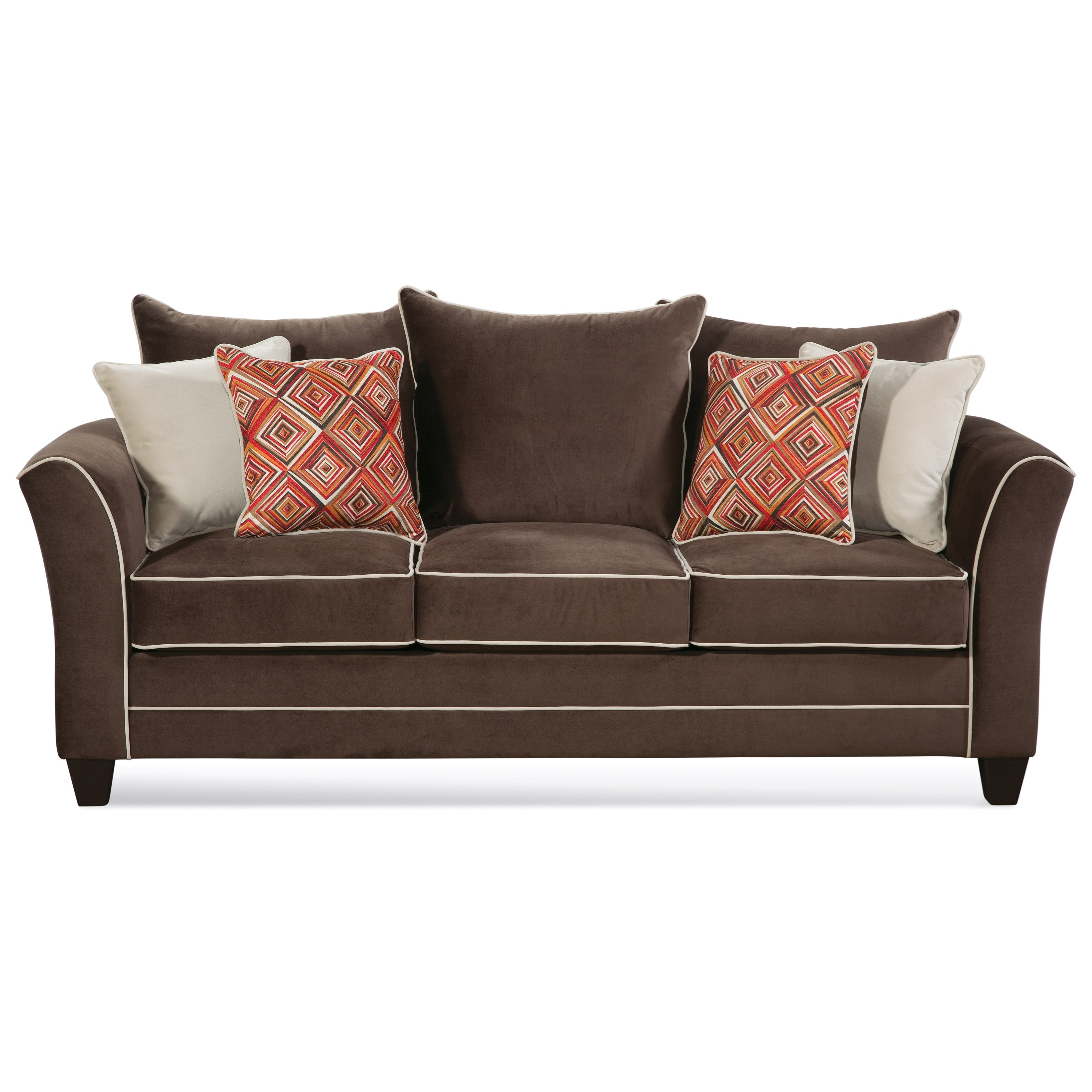 Sofa Welt Serta Upholstery By Hughes Furniture 2650 Transitional