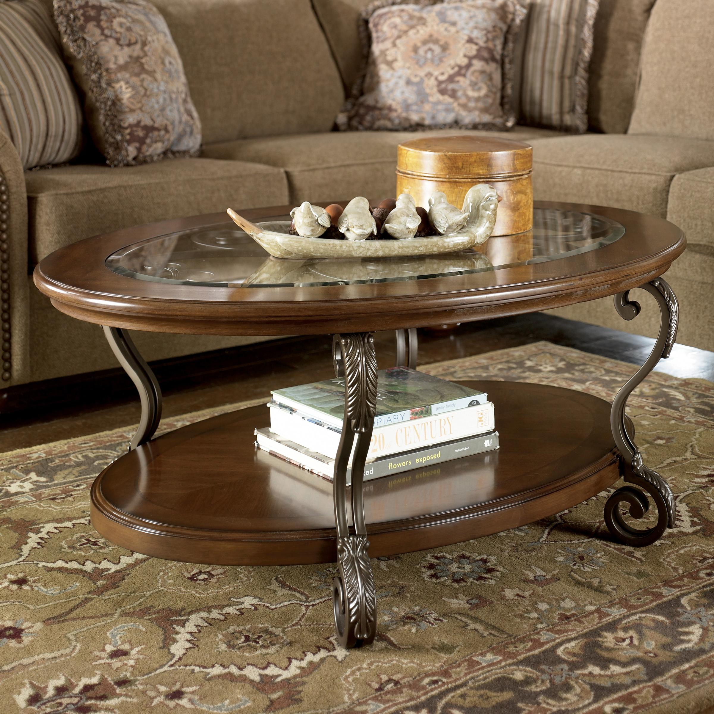 Muebles Portillo Catalogo Signature Design By Ashley Nestor Oval Cocktail Table