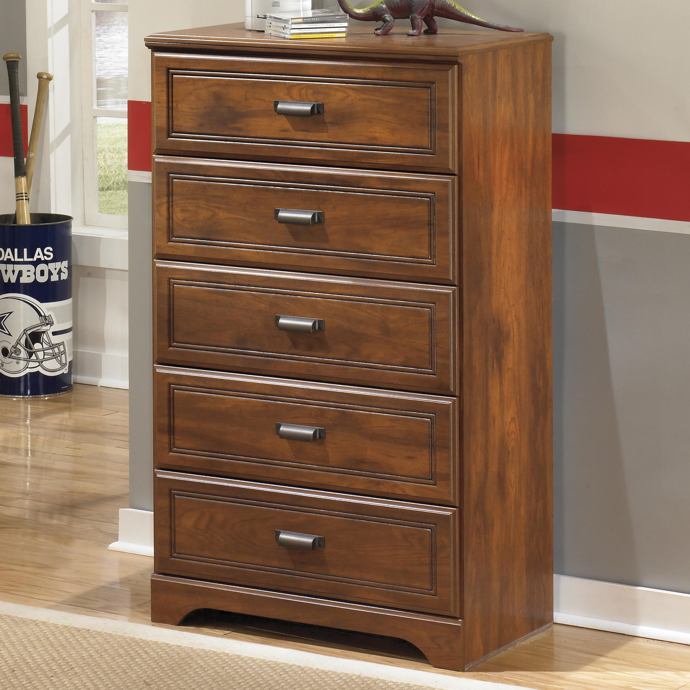 Furniture Chest Signature Design By Ashley Barchan B228 46 Five Drawer