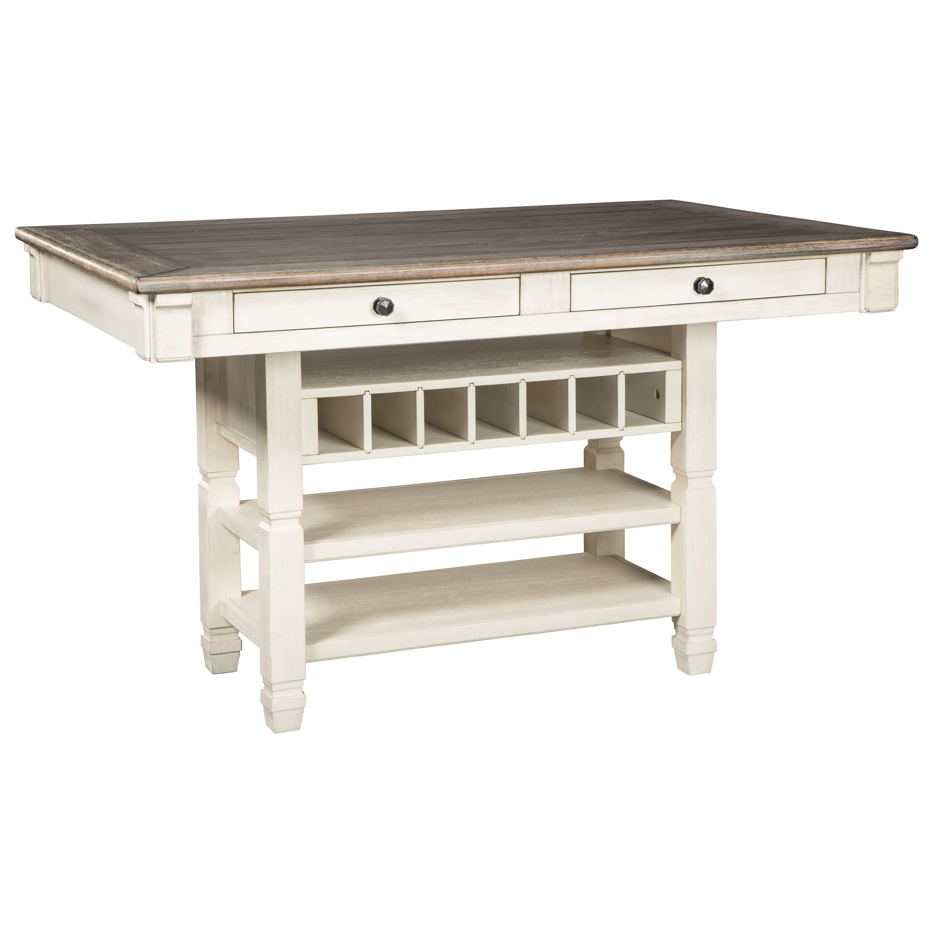 Square Dining Table With Storage Signature Design By Ashley Bolanburg D647 32 Relaxed