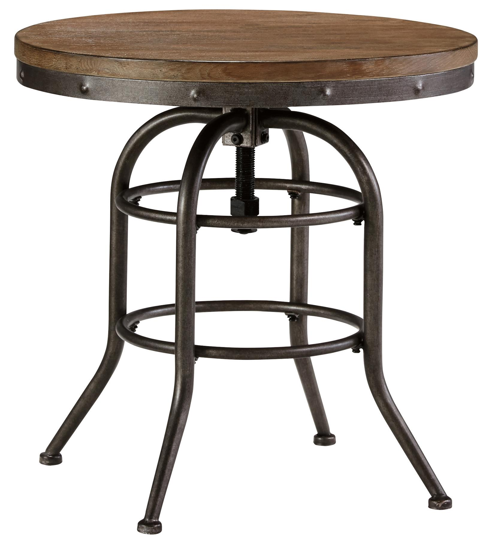 Industrial Look End Tables Ashley Signature Design Vennilux T500 726 Industrial Style