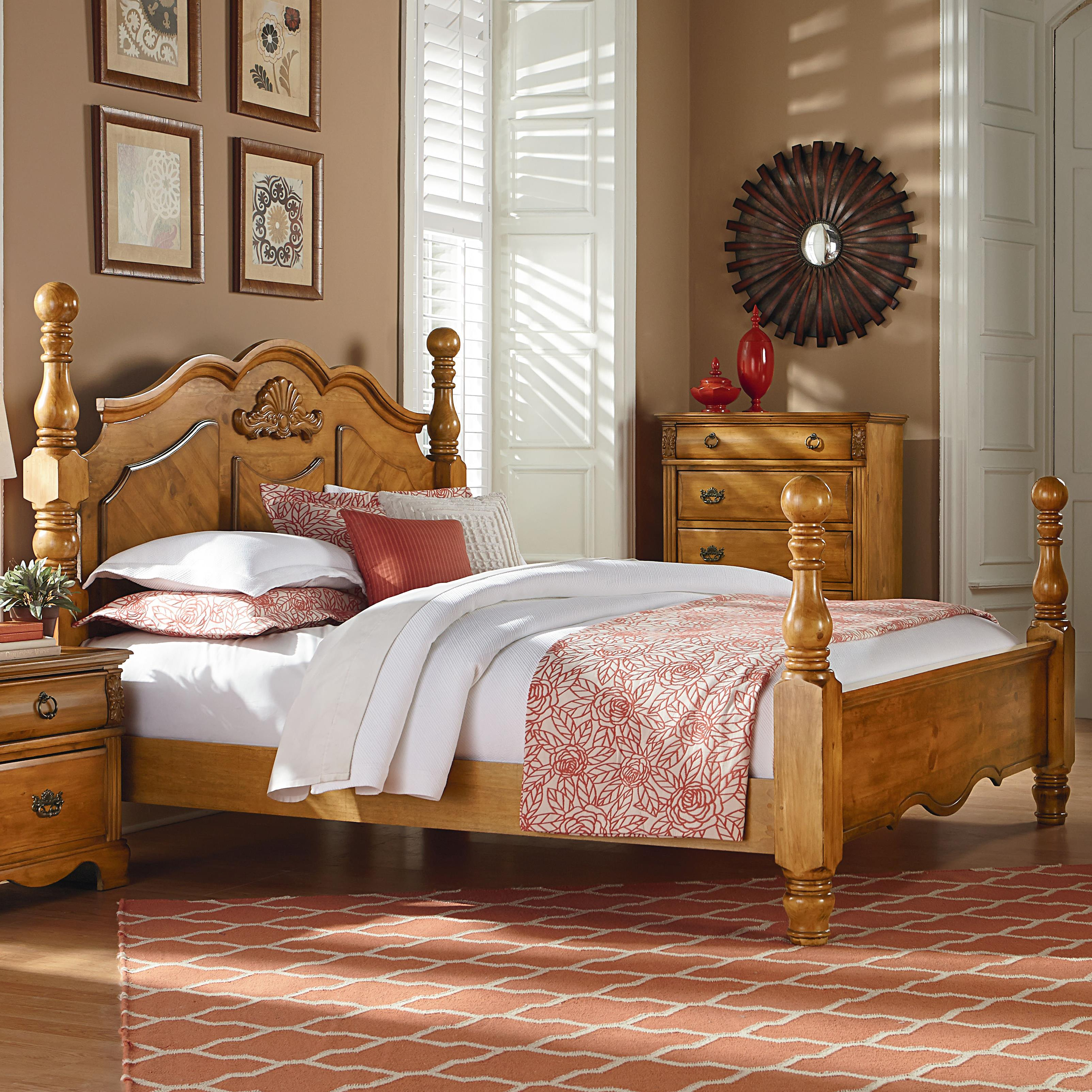 Four Poster Queen Size Bed Standard Furniture Georgetown Traditional Cannonball