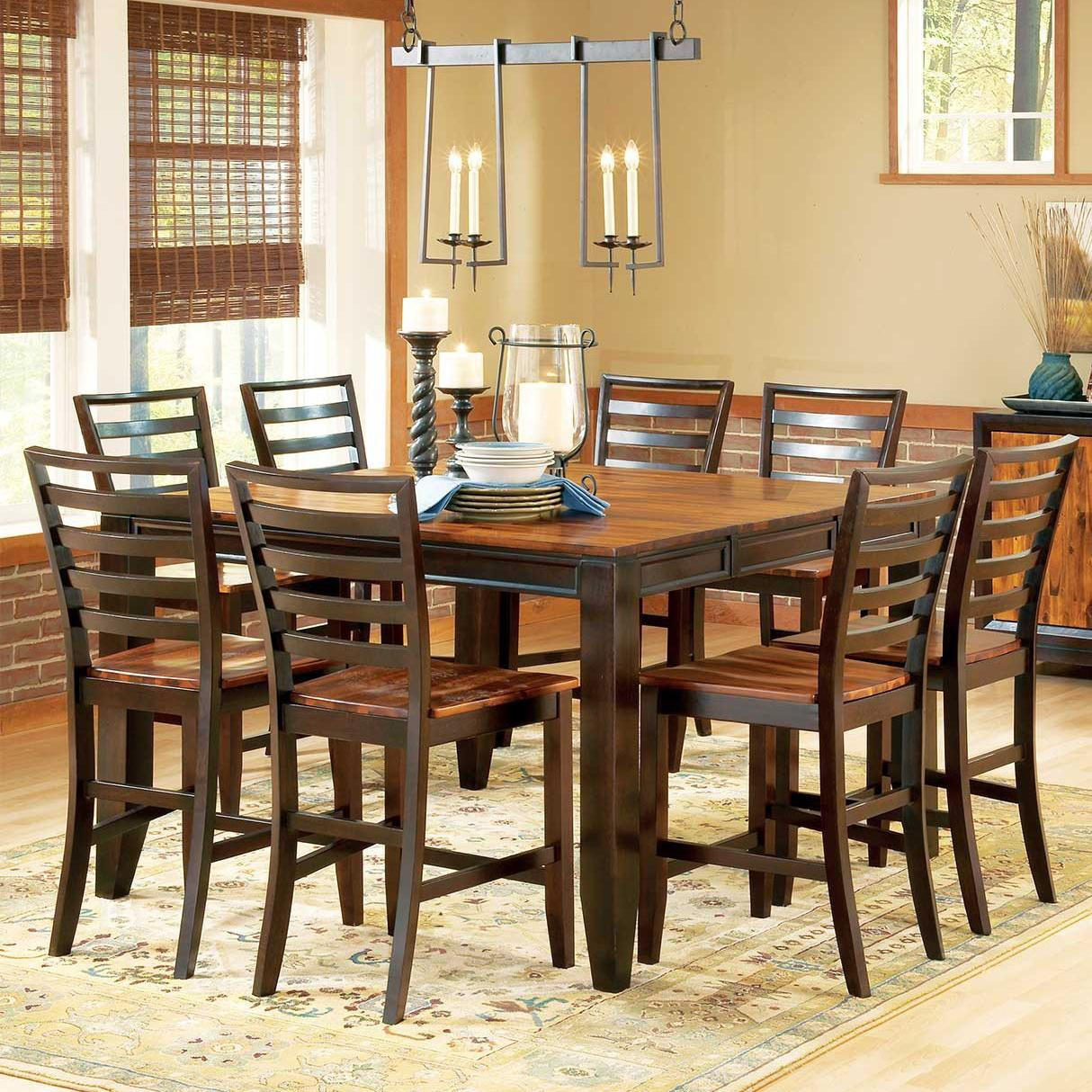 Building A Dining Room Table With Leaves Belfort Essentials Abaco 9 Piece Gathering Table Set 54