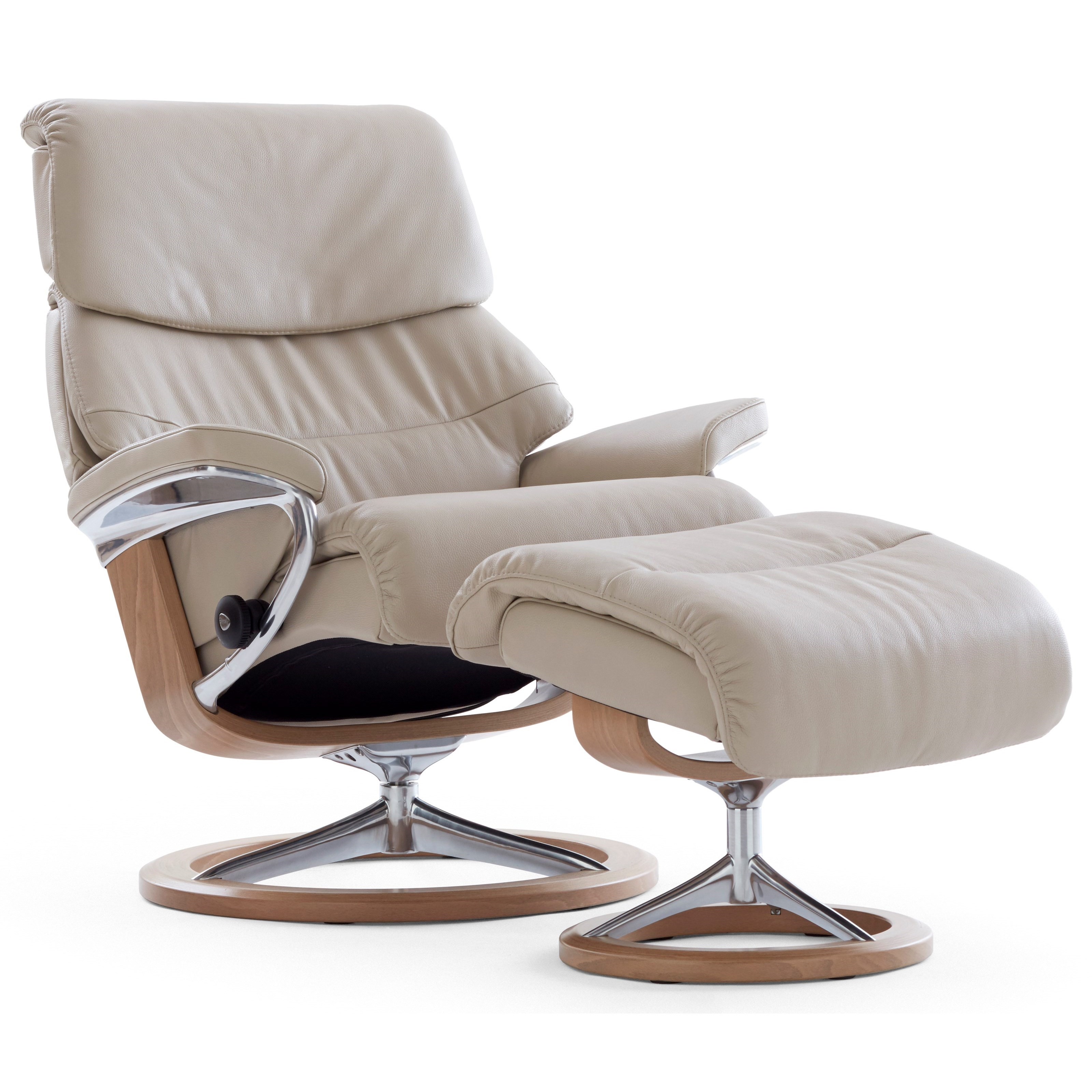 Wide Chair And Ottoman Stressless Capri Large Reclining Chair And Ottoman With