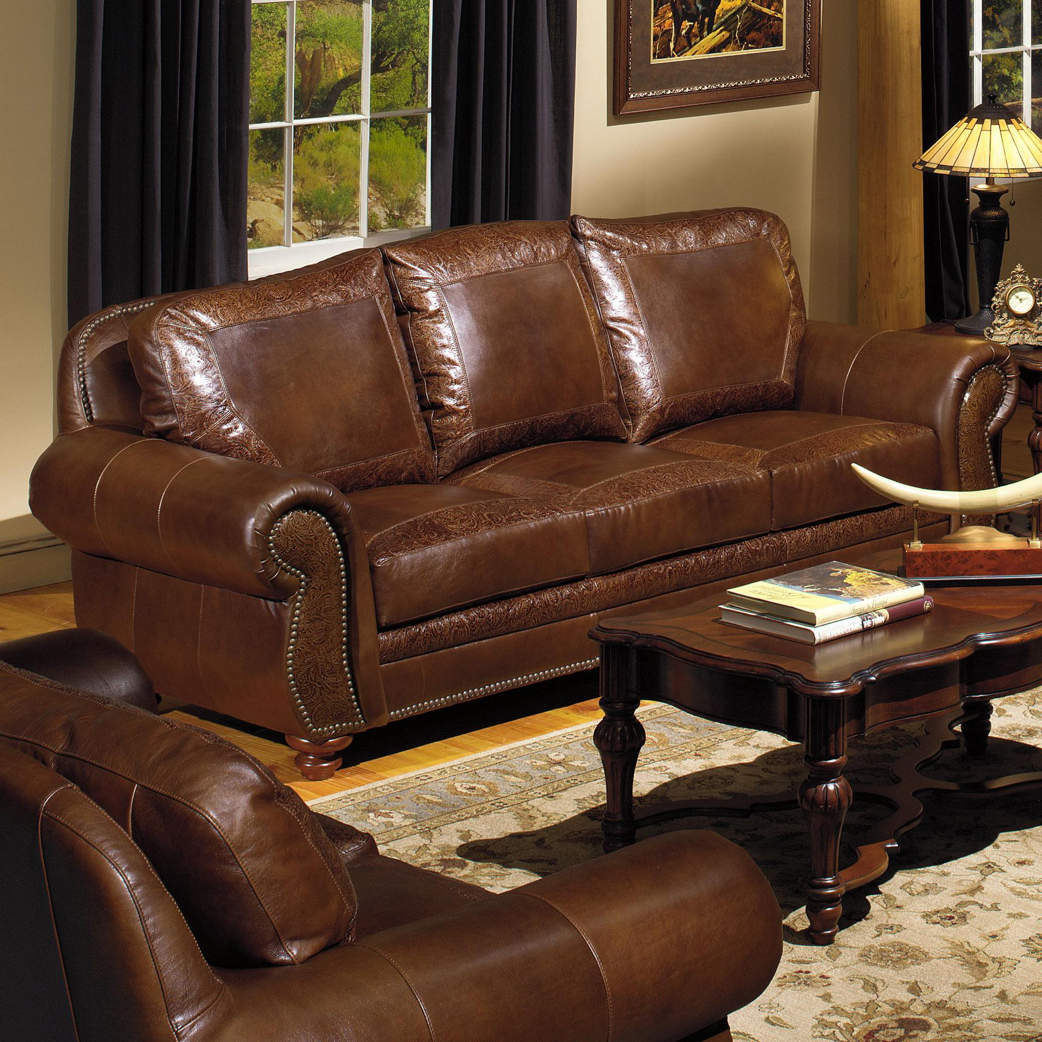 Leather Furniture Vancouver Usa Premium Leather 8555 Traditional Leather Sofa With