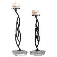 Uttermost Accessories 18810 Mahin Candleholders Set of 2 ...