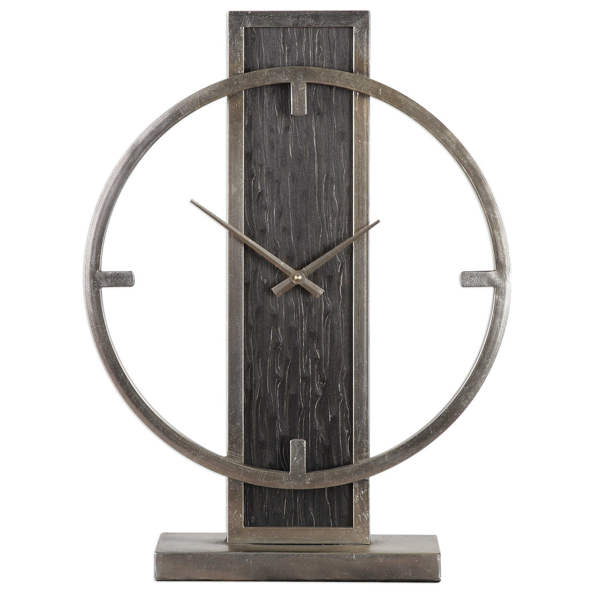 Table Clock Modern Uttermost Clocks 06443 Nico Modern Desk Clock Del Sol