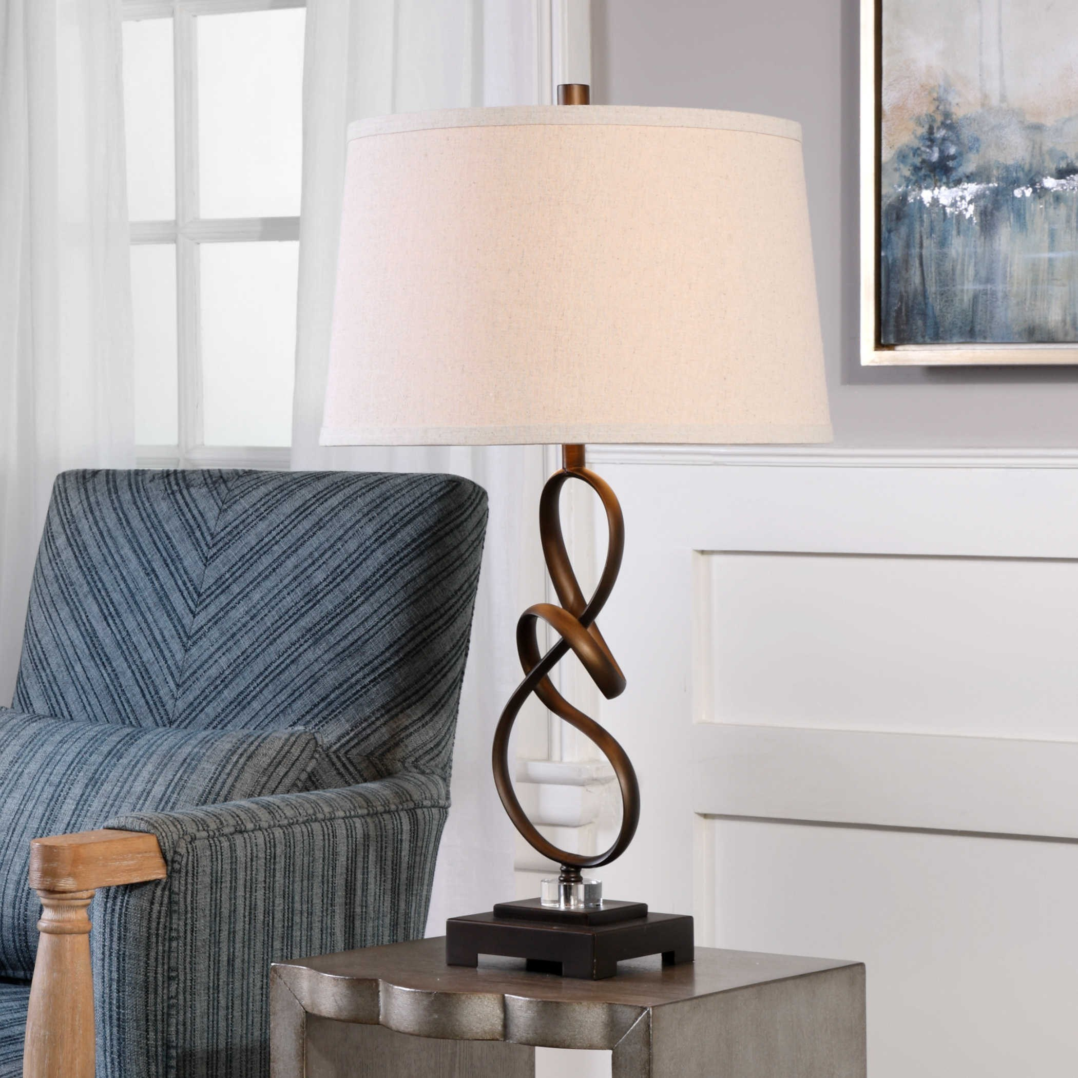 Bright Colored Table Lamps Uttermost Lamps 27530 1 Tenley Oil Rubbed Bronze Lamp