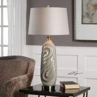Uttermost Lamps 27717-1 Griseo Sage Gray Table Lamp ...