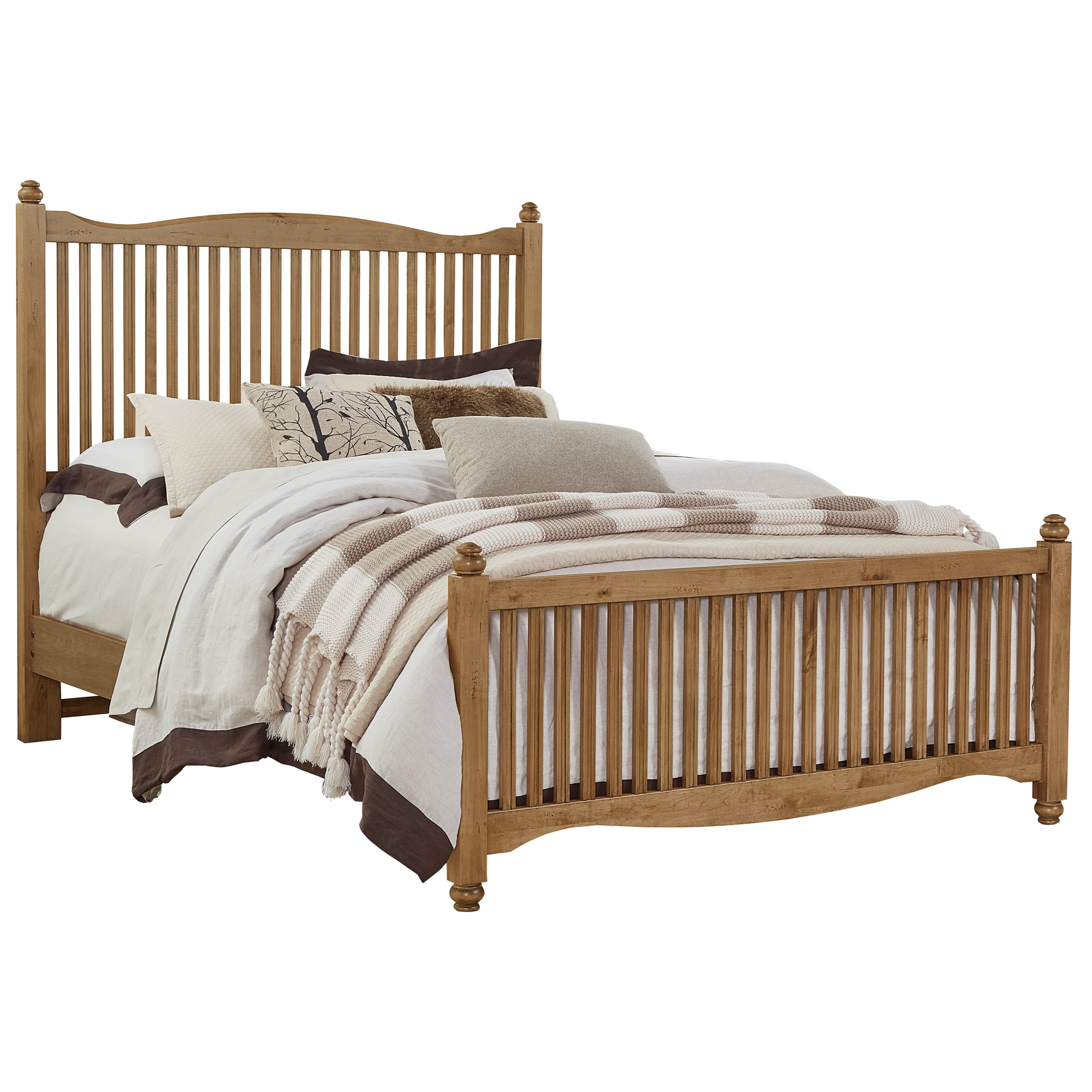 Vaughan Bassett American Maple Solid Wood Twin Slat Bed