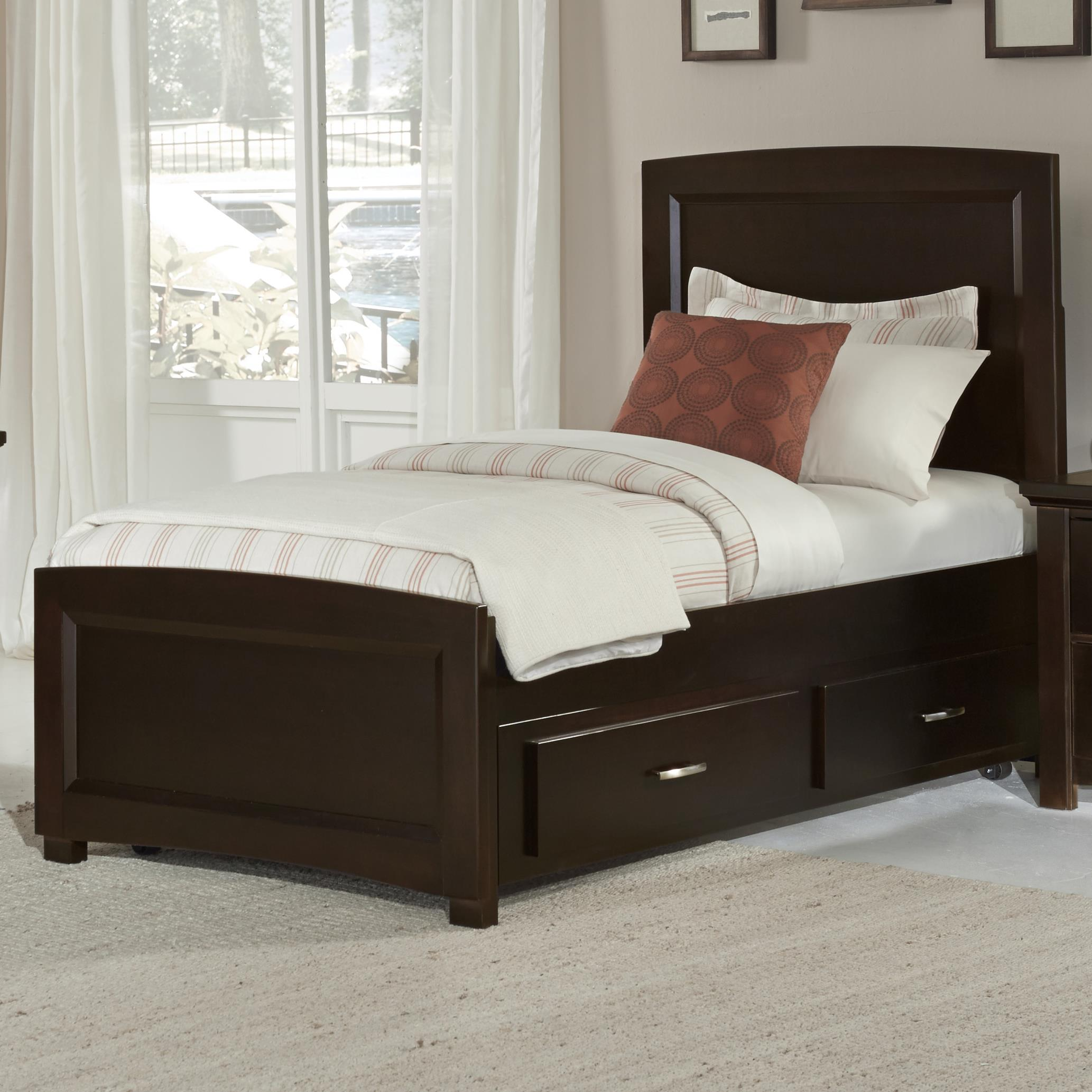 Twin Bed Frame Low Profile Vaughan Bassett Transitions Twin Panel Bed With Trundle