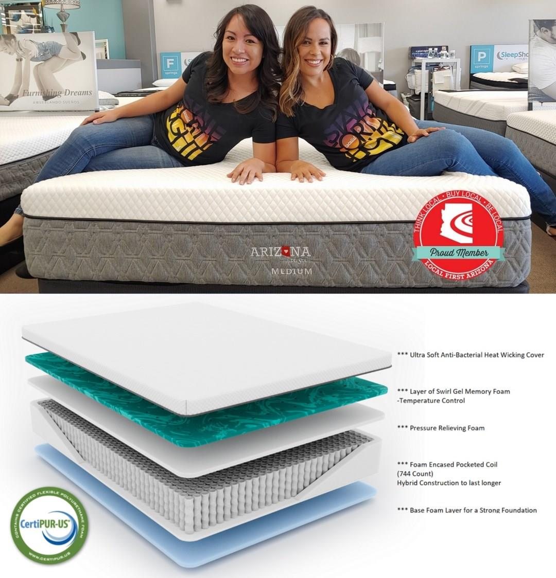 The Mattress That Supports You And Arizona Del Sol Furniture Phoenix Glendale Tempe Scottsdale Avondale Peoria Goodyear Litchfield Arizona