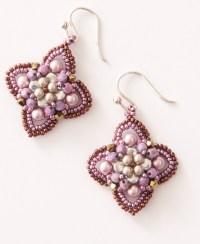 Quatrefoil Earrings Kit in Purple
