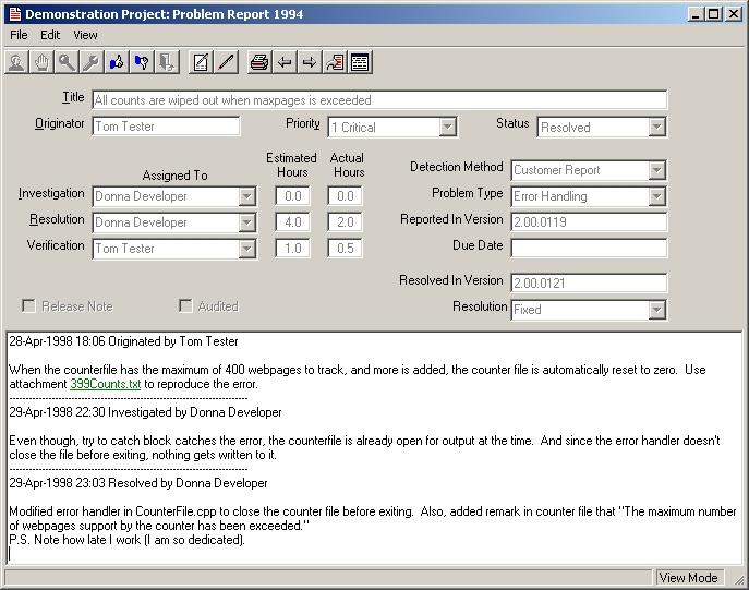 Problem Report - Design Templates