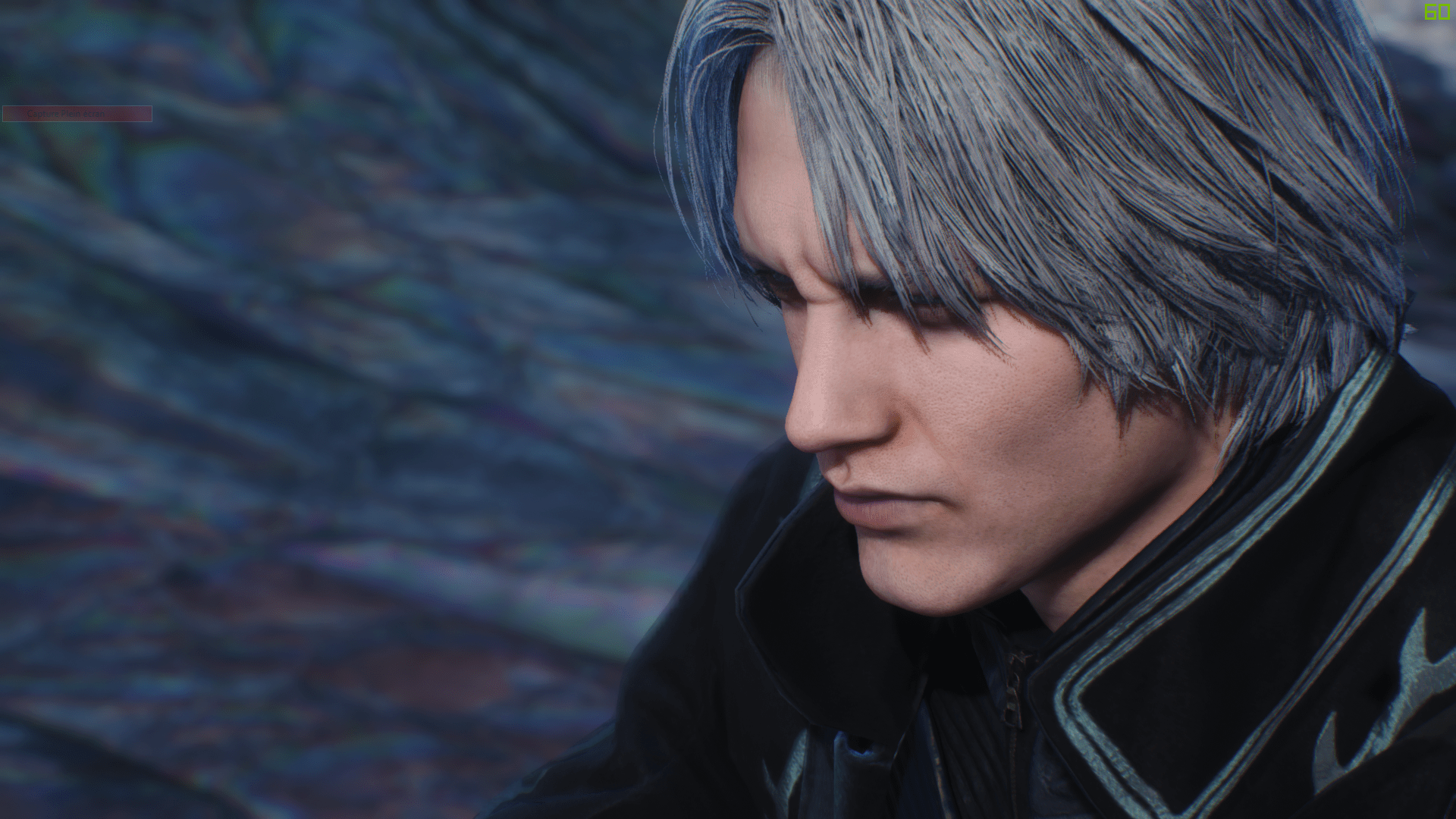 3d Action Game Wallpaper Vergil Hair Down Mod Devil May Cry 5 Mods Gamewatcher