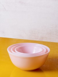 Mosser Glass Milk Glass Mixing Bowl Set of 3 - Pink ...