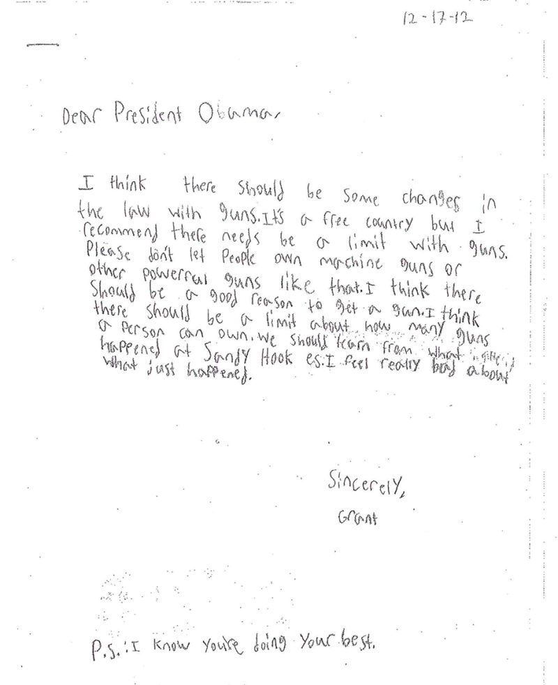 The Touching Letters These Kids Wrote President Obama After the - child letter