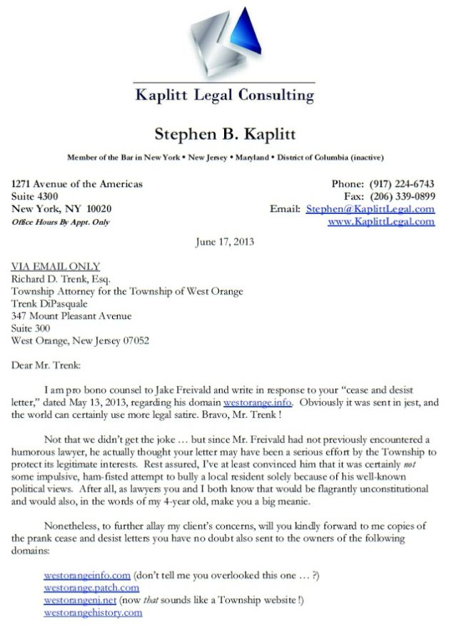 This Is How You Respond to an Unjust Cease and Desist Letter - Cease And Desist Letter Sample
