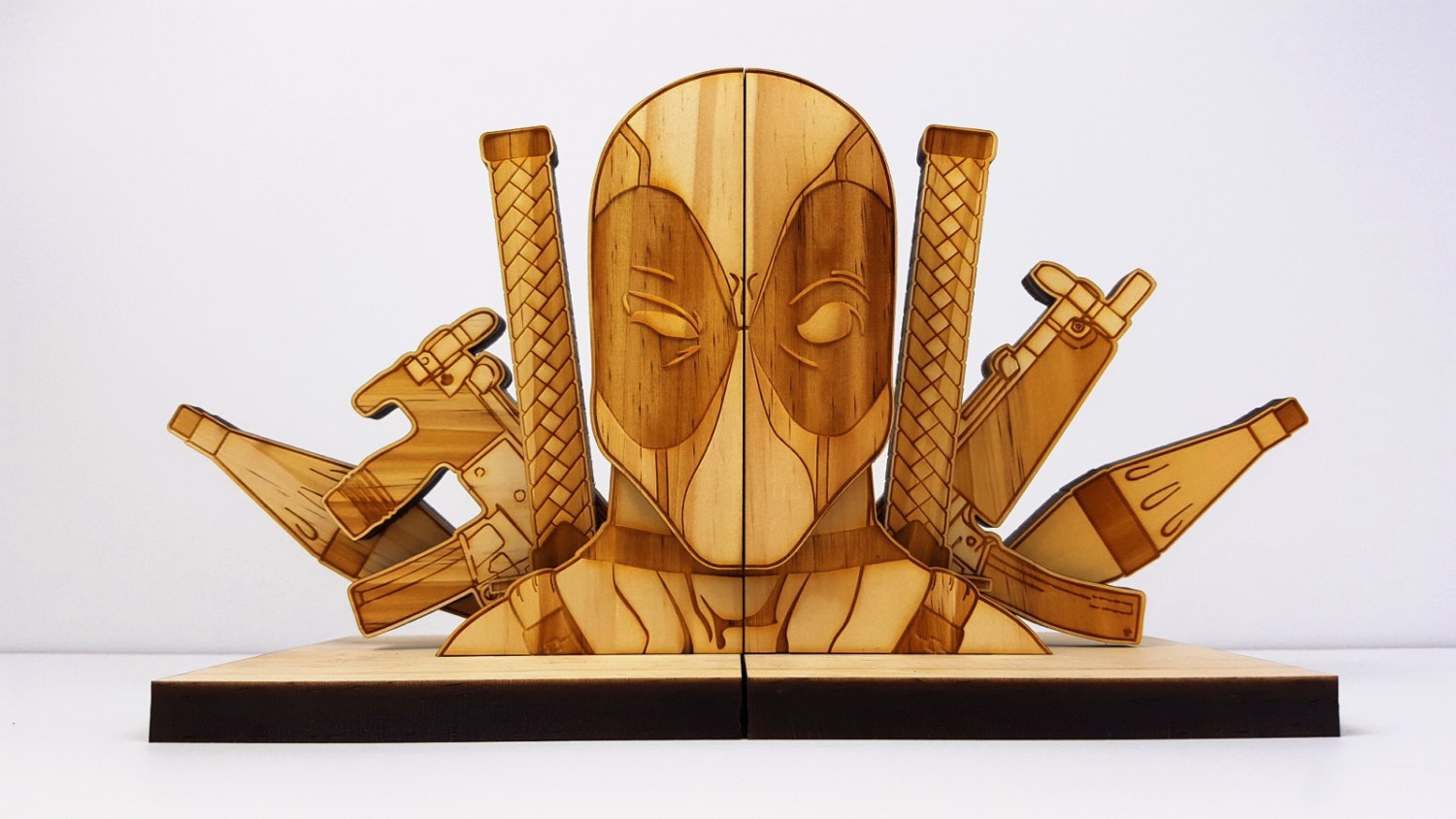 Bookends Book Deadpool And Batman Bookends To Keep Your Rpgs Safe