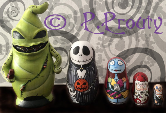 Totally cool Nightmare Before Christmas nesting dolls