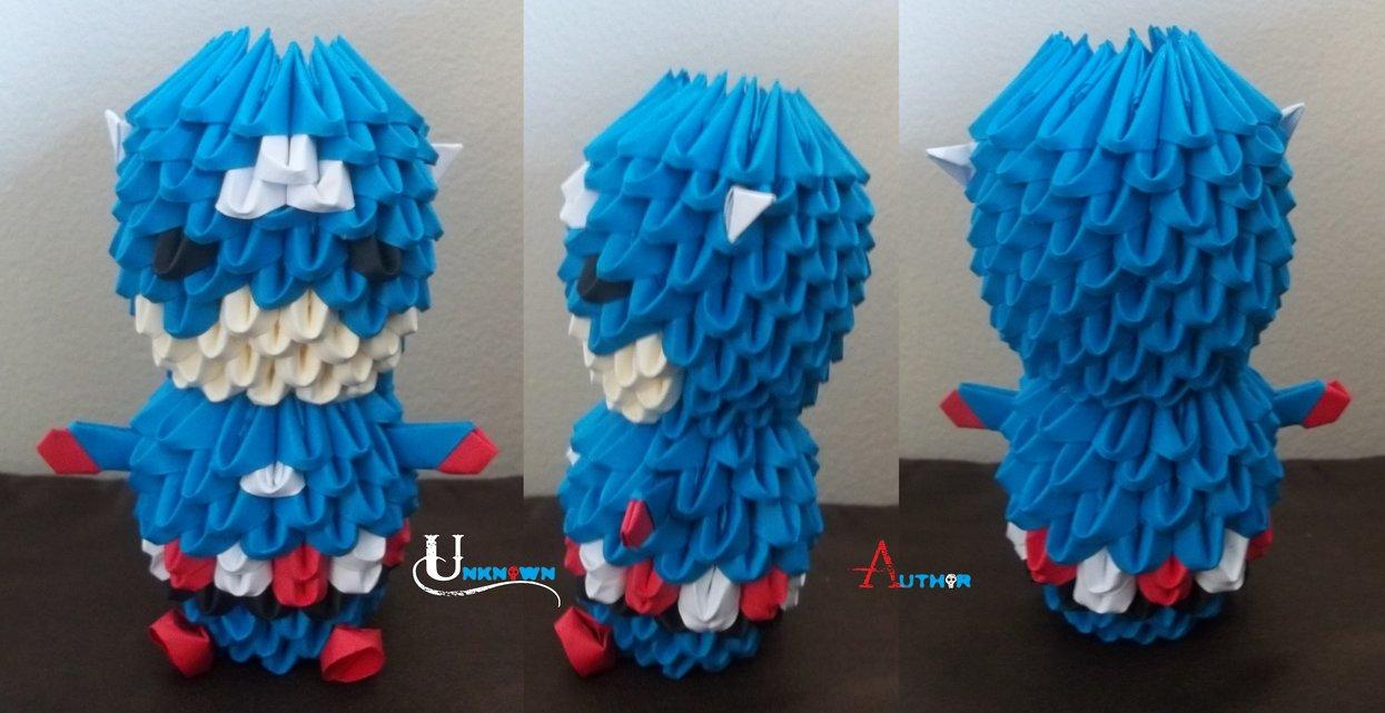 3D Origami - Chibi Captain America