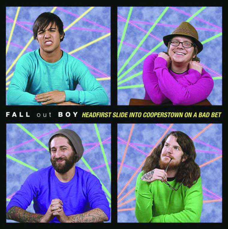 Fall Out Boy Mania Wallpaper Fall Out Boy Headfirst Slide Into Cooperstown On A Bad