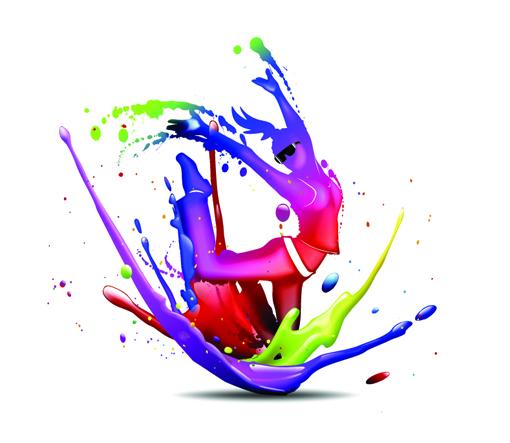3d Colours Wallpaper Heart Paint Splash Beauty Dazzle Dance Vector Misc Free Vector