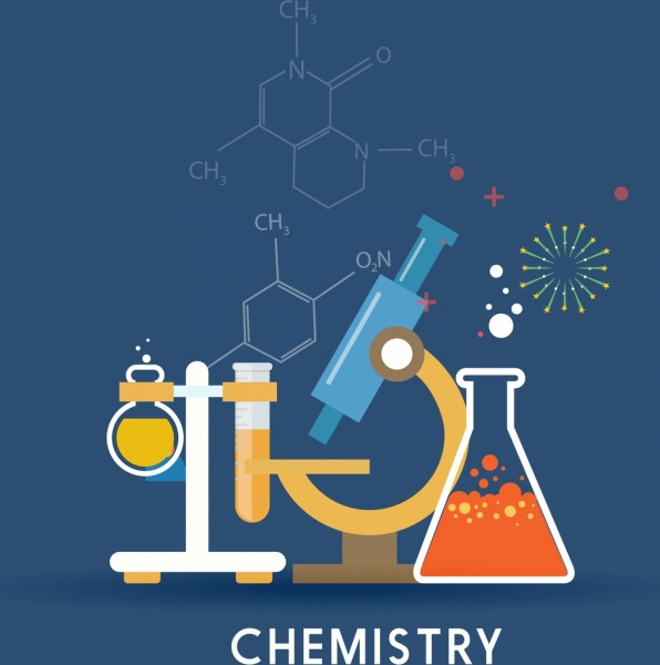 Animal Wallpaper For Home Chemistry Background Lab Tools Icons Molecule Formulas